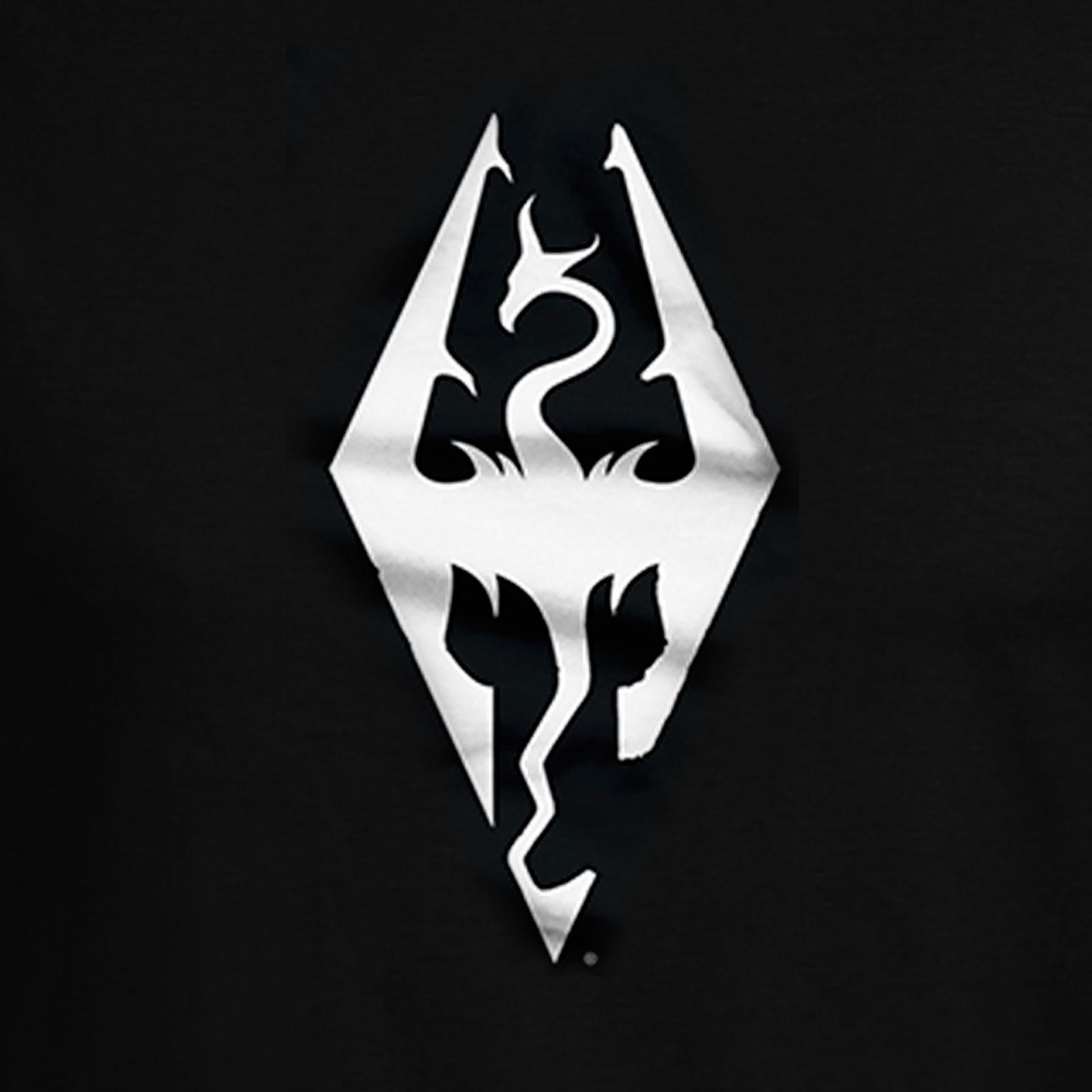 Skyrim - Dragon Symbol T-Shirt schwarz