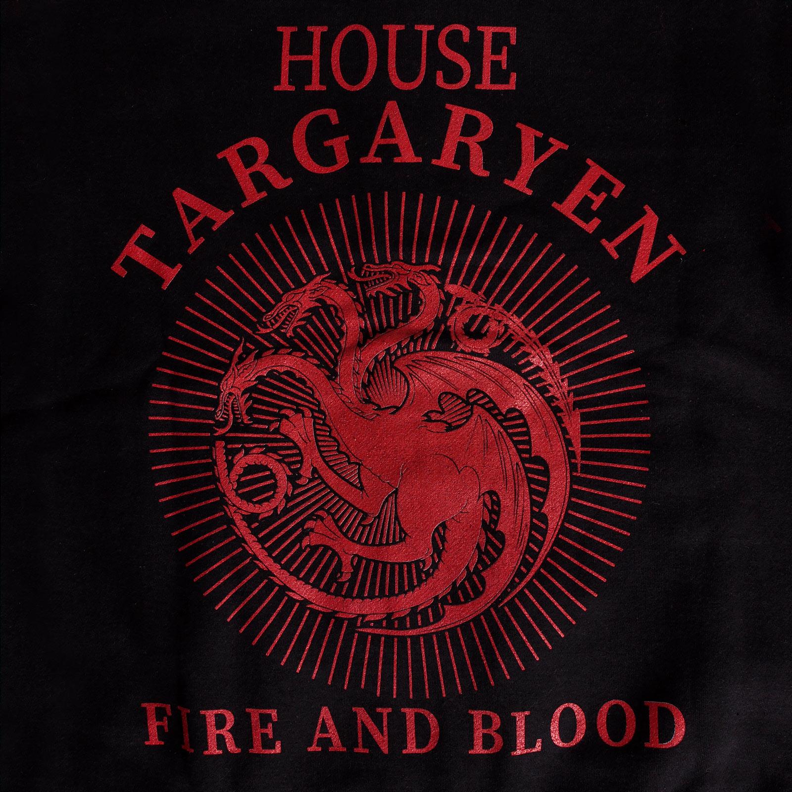 Game of Thrones - House Targaryen College Jacke schwarz-rot