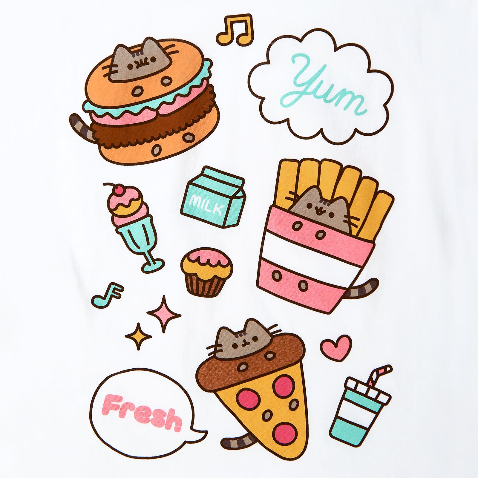 Pusheen - Foodie T-Shirt Damen weiß