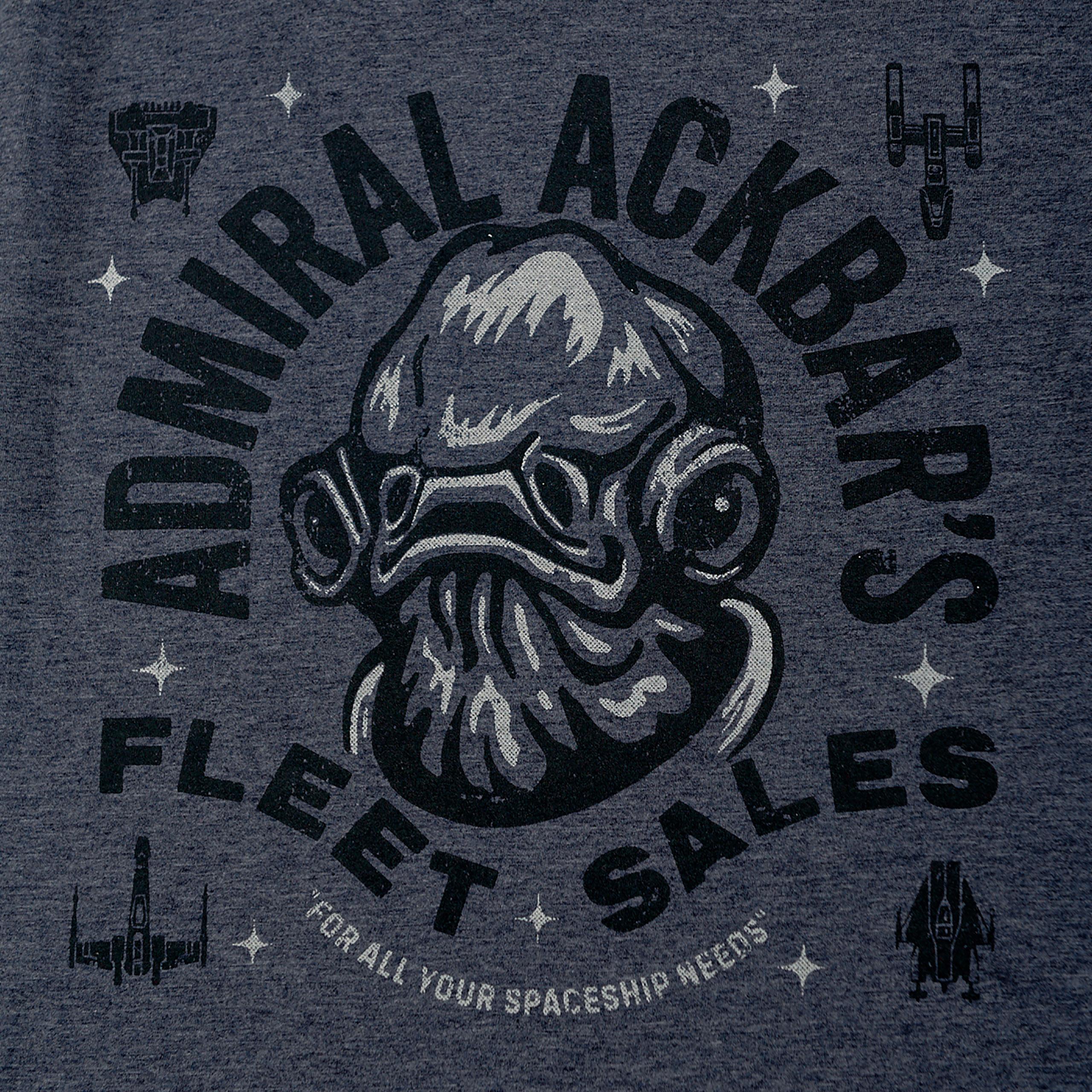 Star Wars - Admiral Ackbar's Fleet Sales T-Shirt blau