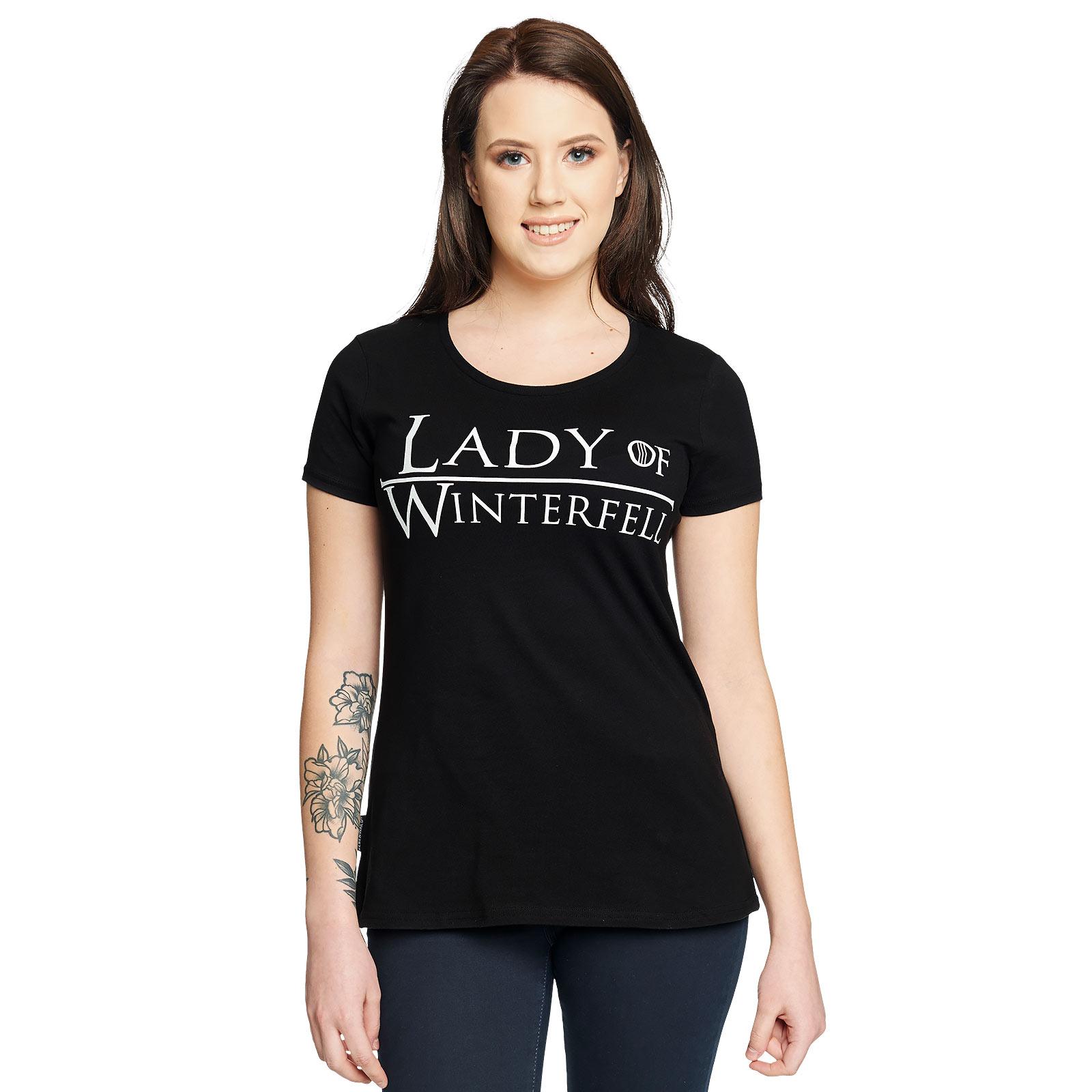 Lady of Winterfell Damen T-Shirt für Game of Thrones Fans