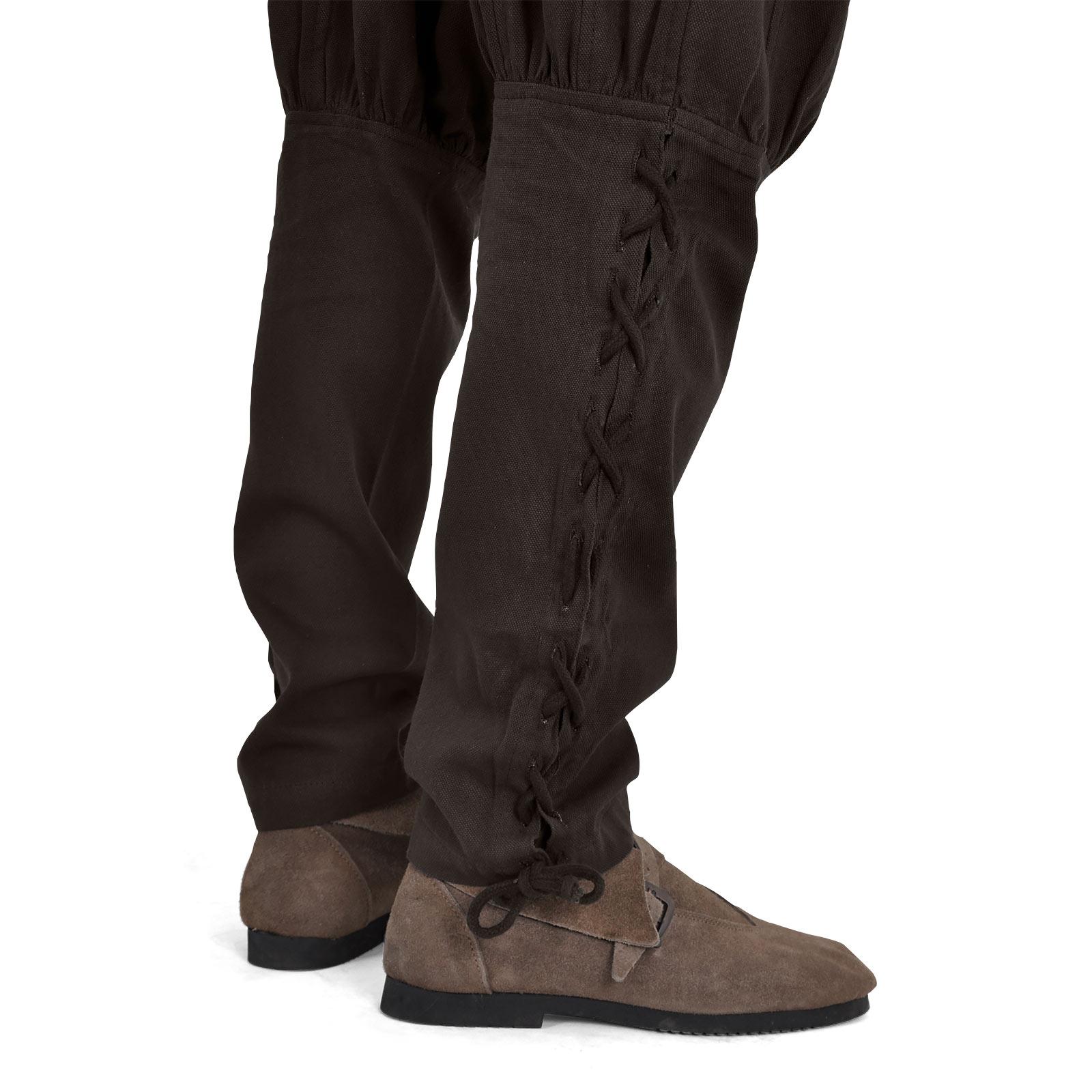 Hose Bertram Herren mit Unterbeinschnürung braun