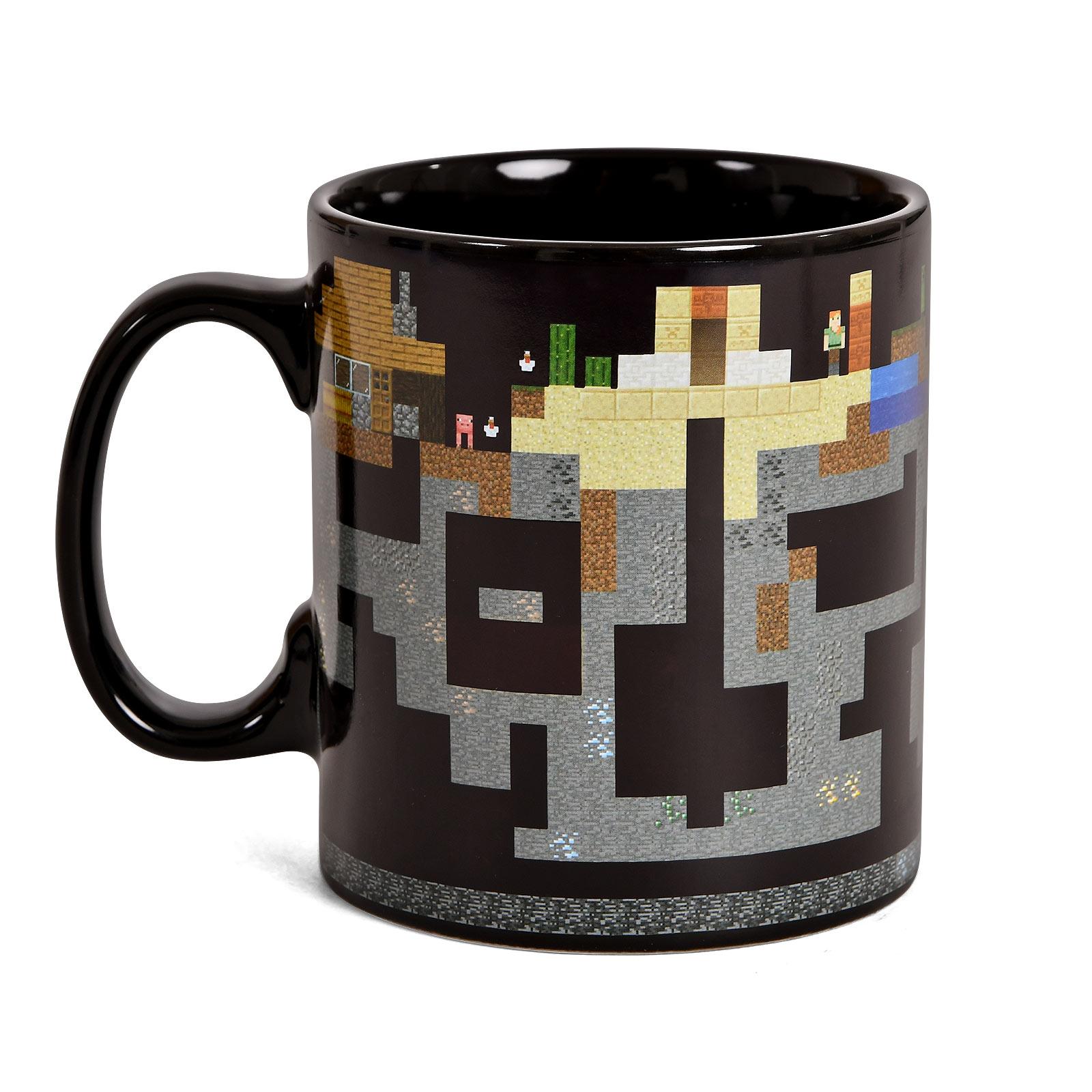 Minecraft - Pixel World Thermoeffekt Tasse