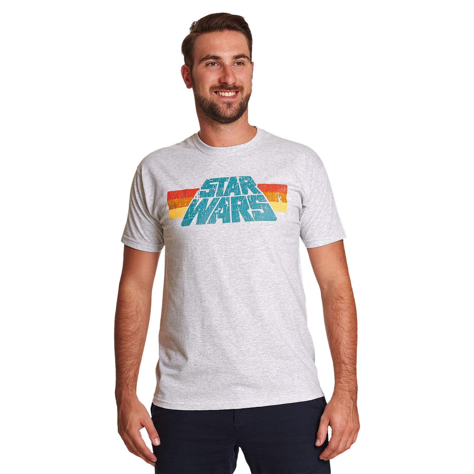 Star Wars - Vintage 77 Logo T-Shirt grau