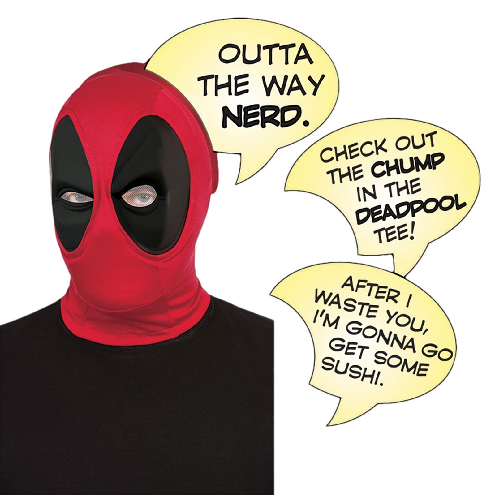Deadpool - Maske mit Sprechblasen