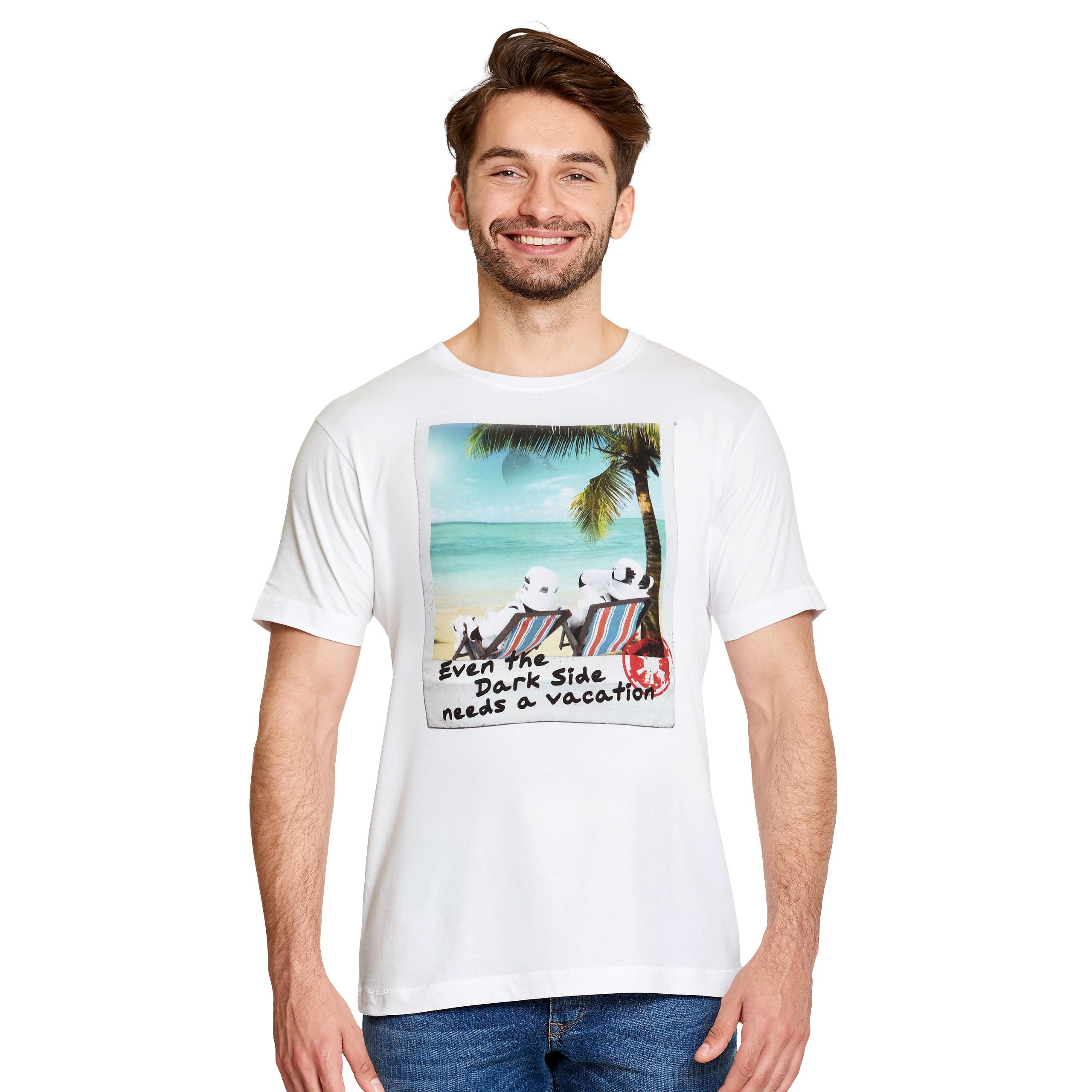 Star Wars - Dark Side Vacation T-Shirt weiß