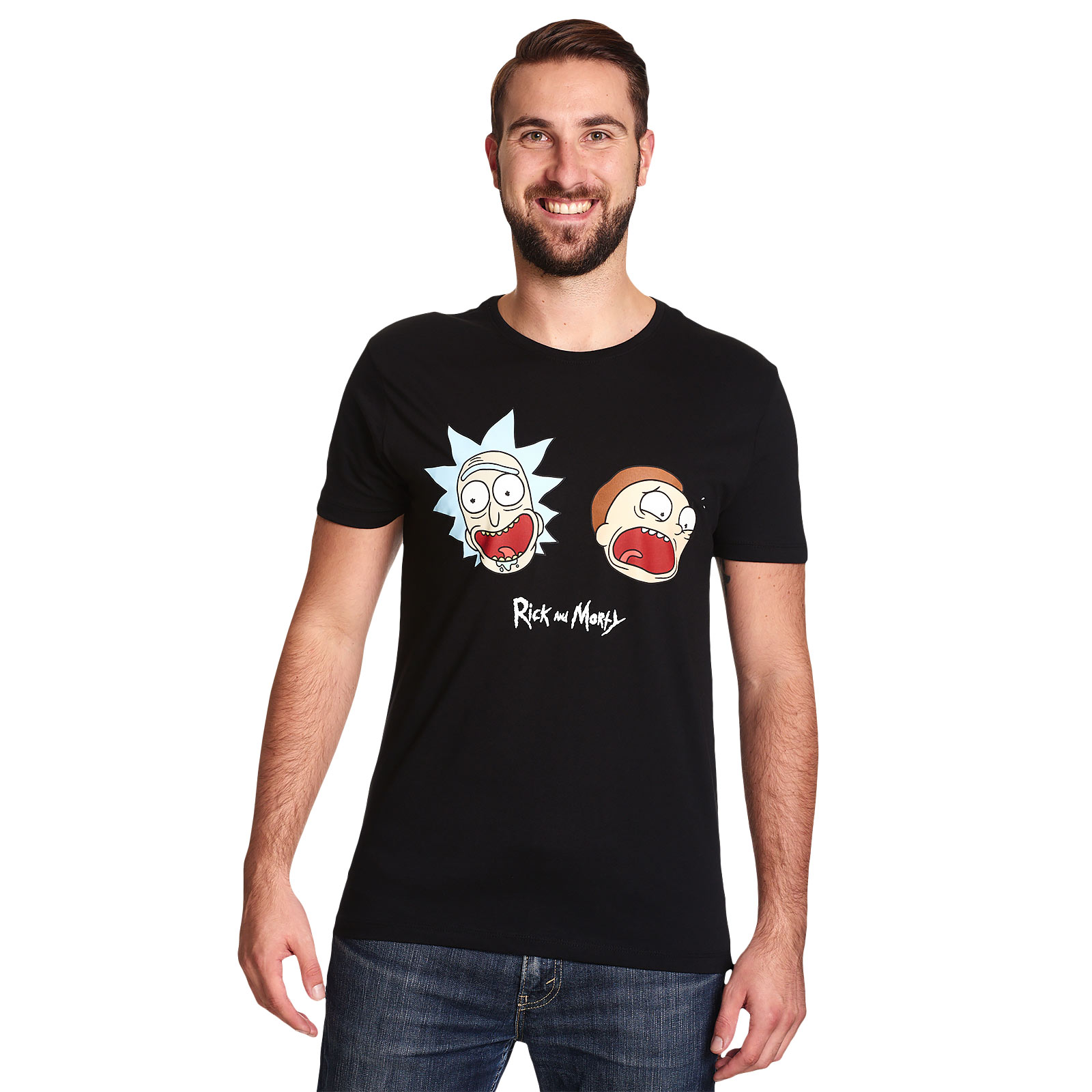 Rick and Morty - Crazy Faces Glow in the Dark T-Shirt
