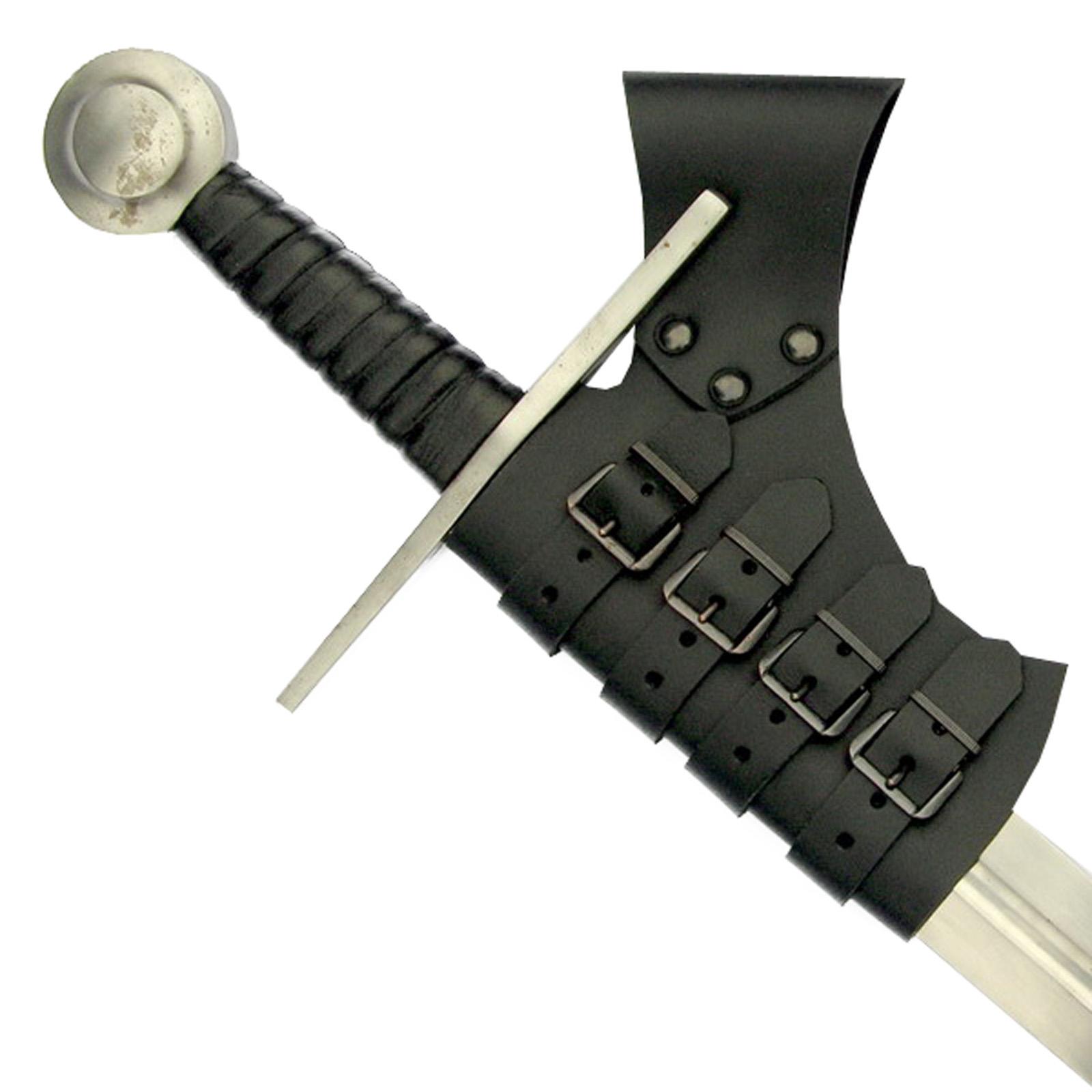 Schwerthalter mit Schnallen - schwarz