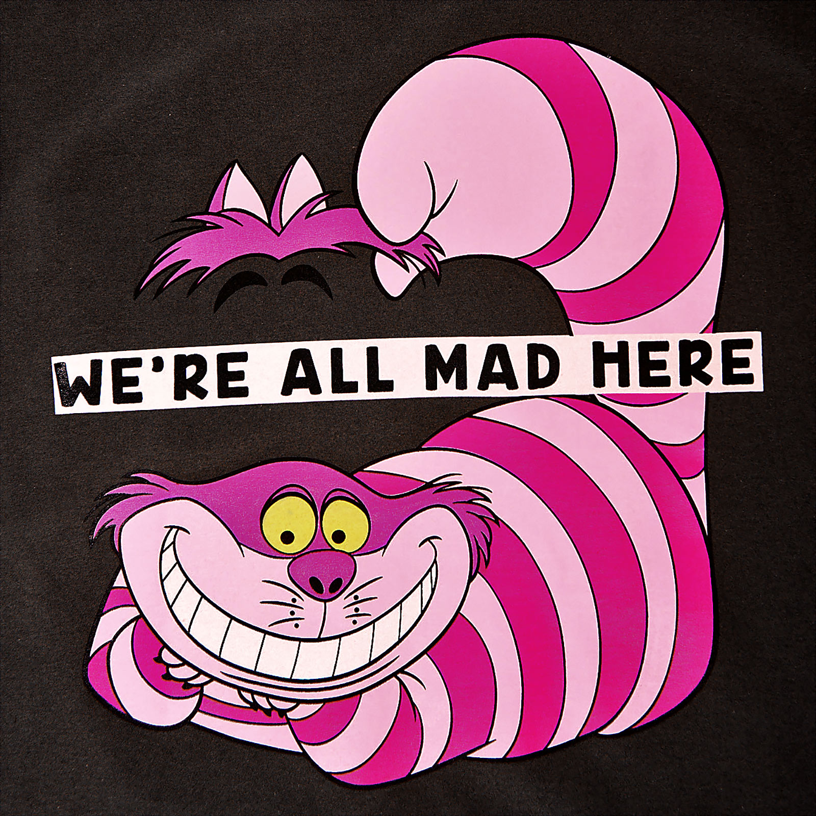 Alice im Wunderland - Grinsekatze All Mad Here T-Shirt grau