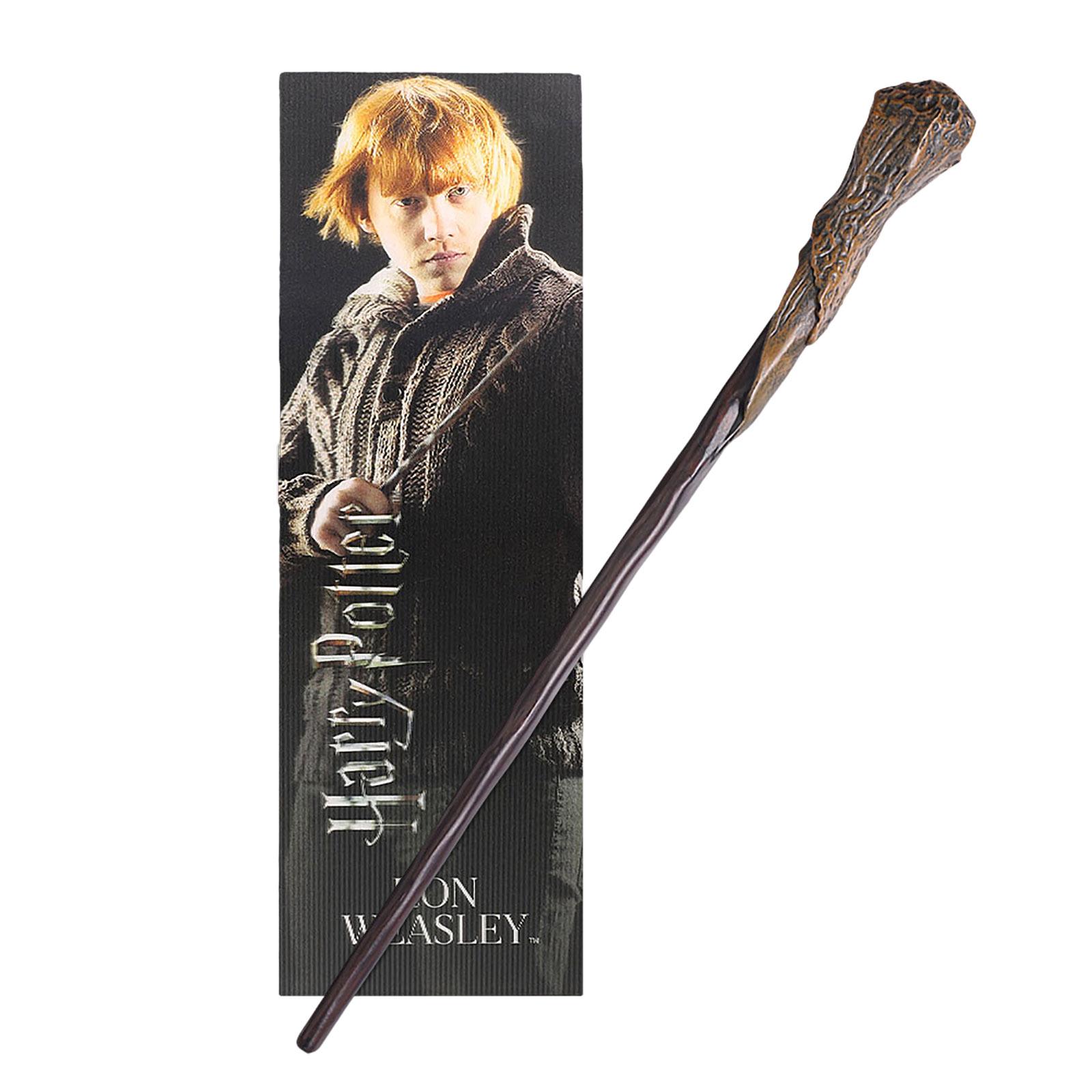 Ron Zauberstab für Jungzauberer mit Lesezeichen - Harry Potter