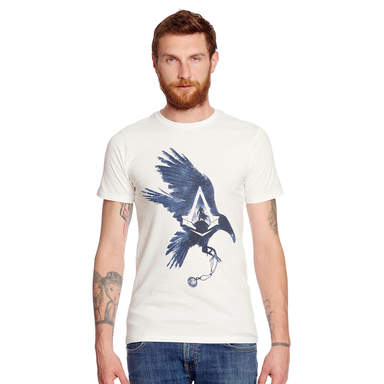 Assassins Creed - Jacob Frye Raven T-Shirt weiß
