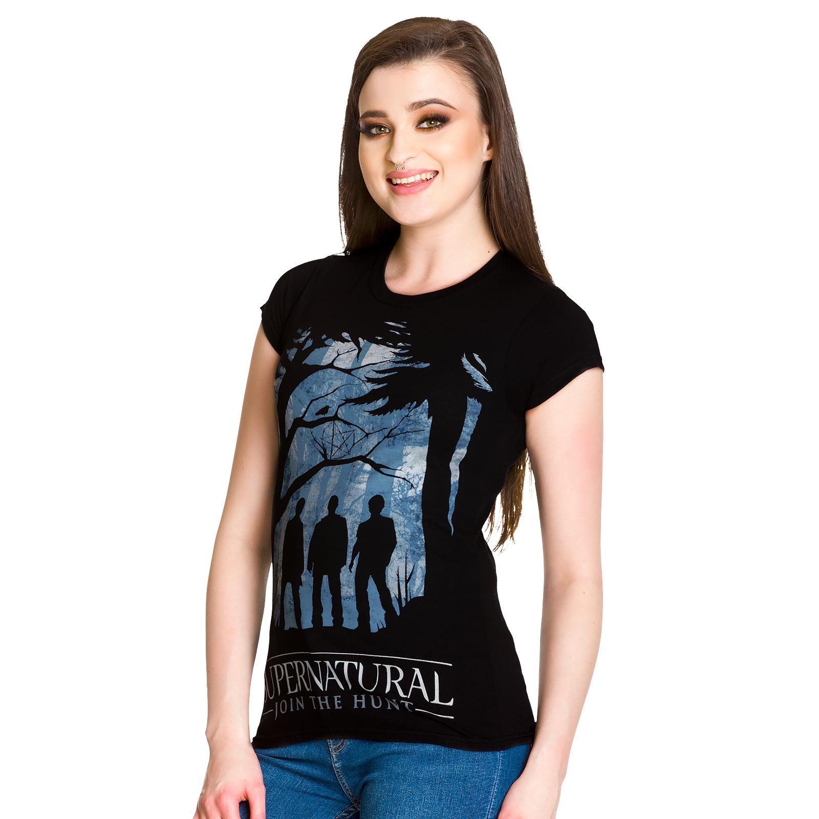Supernatural - Demon Hunters Girlie Shirt schwarz