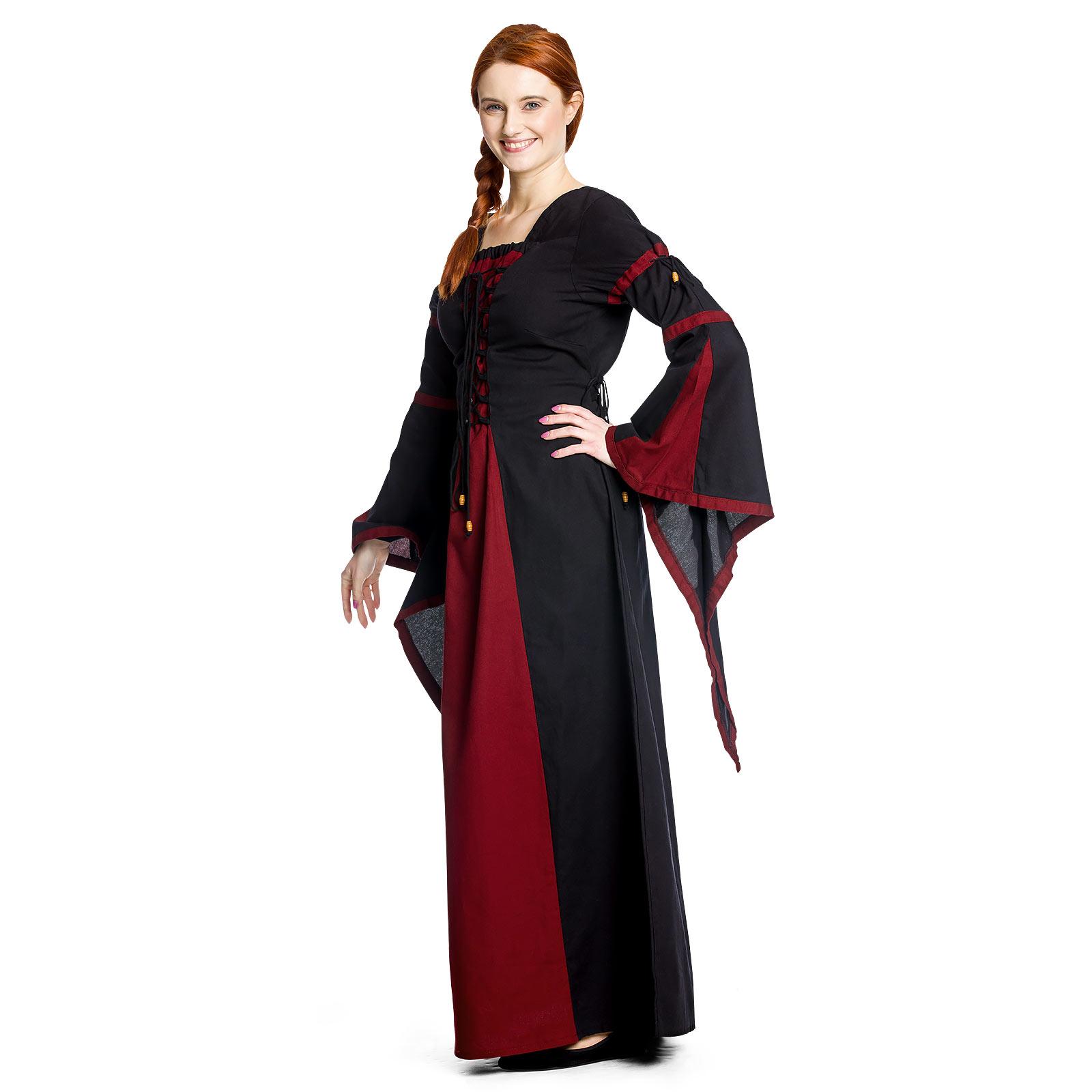 Elisa - Mittelalterkleid rot-schwarz