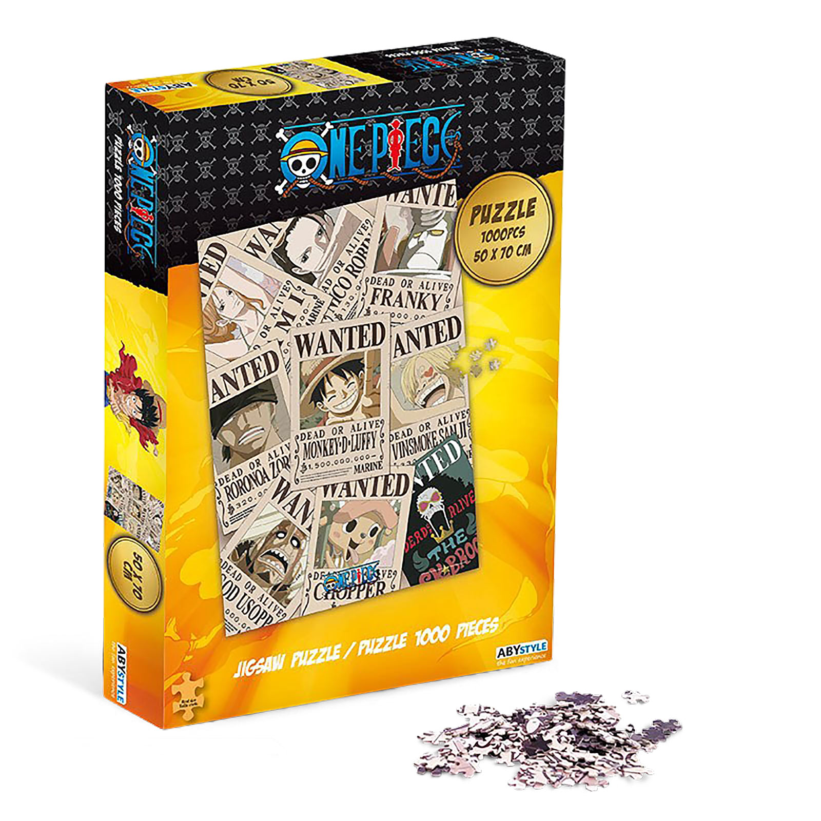 One Piece - Strohhutbande Wanted Puzzle