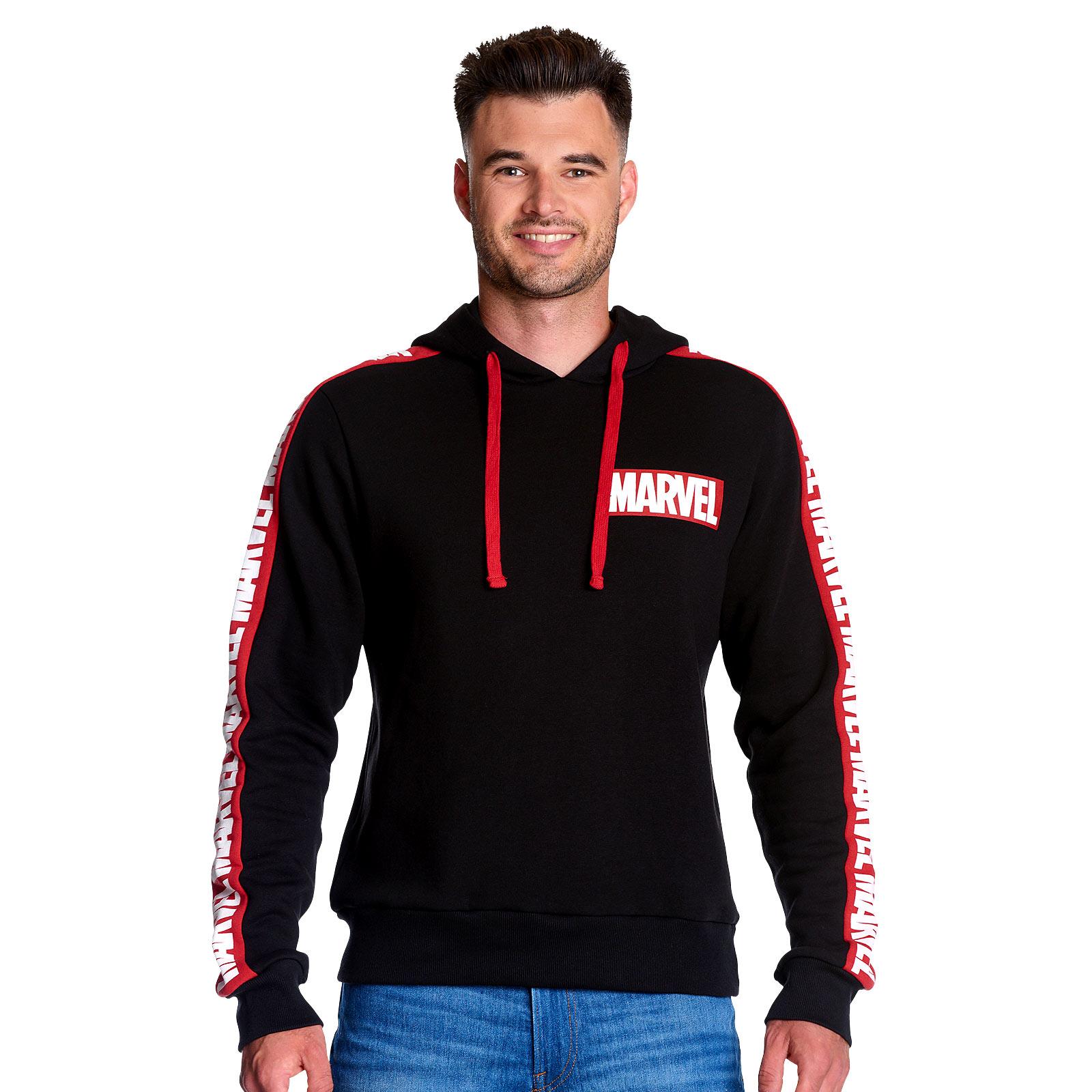 Marvel - Logo Hoodie mit Ärmelprint schwarz