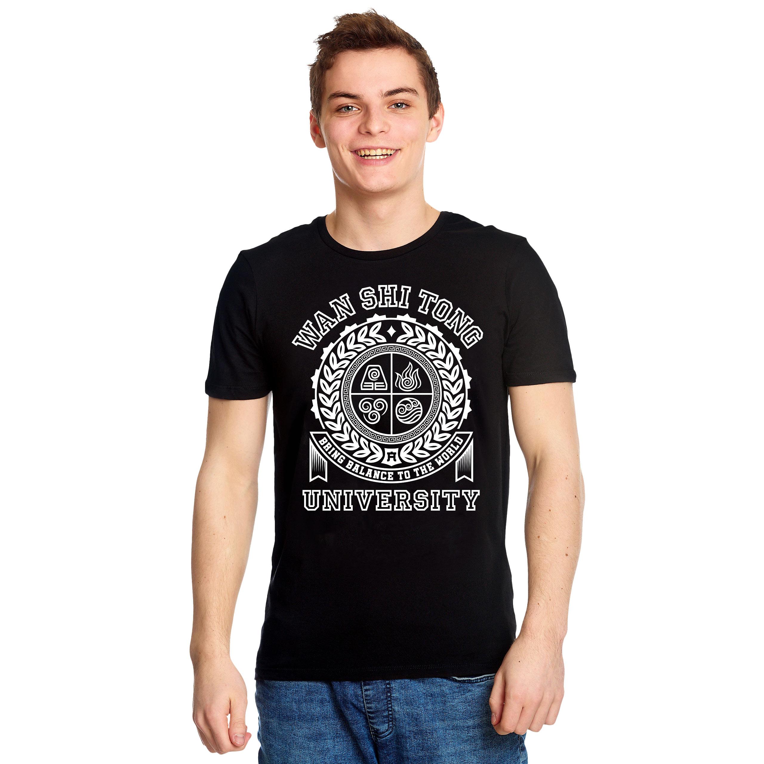 Wan Shi Tong University T-Shirt für Avatar Fans schwarz