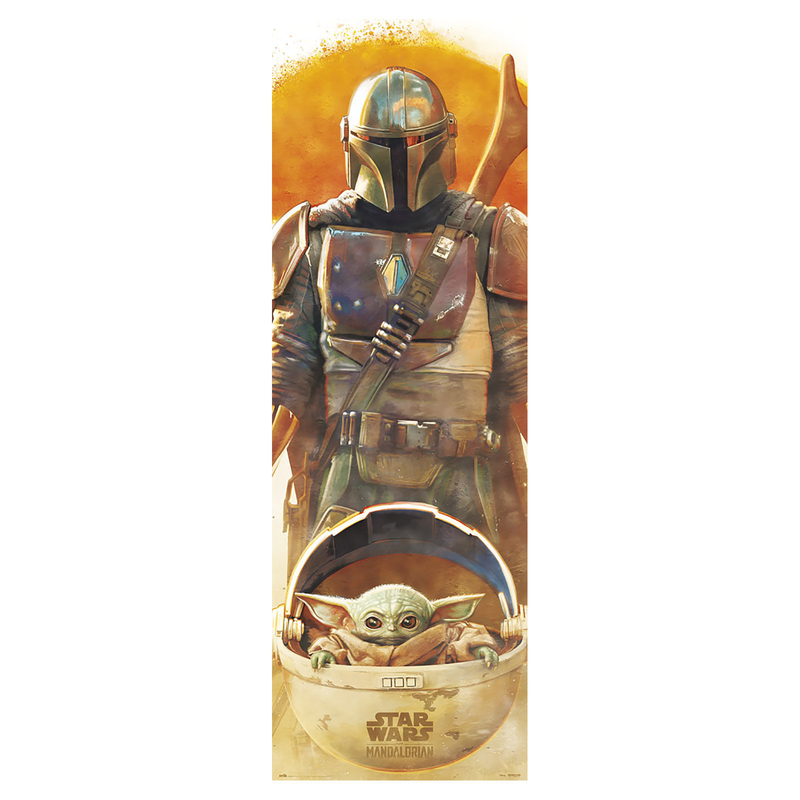 Grogu und Mandalorianer Türposter - Star Wars The Mandalorian