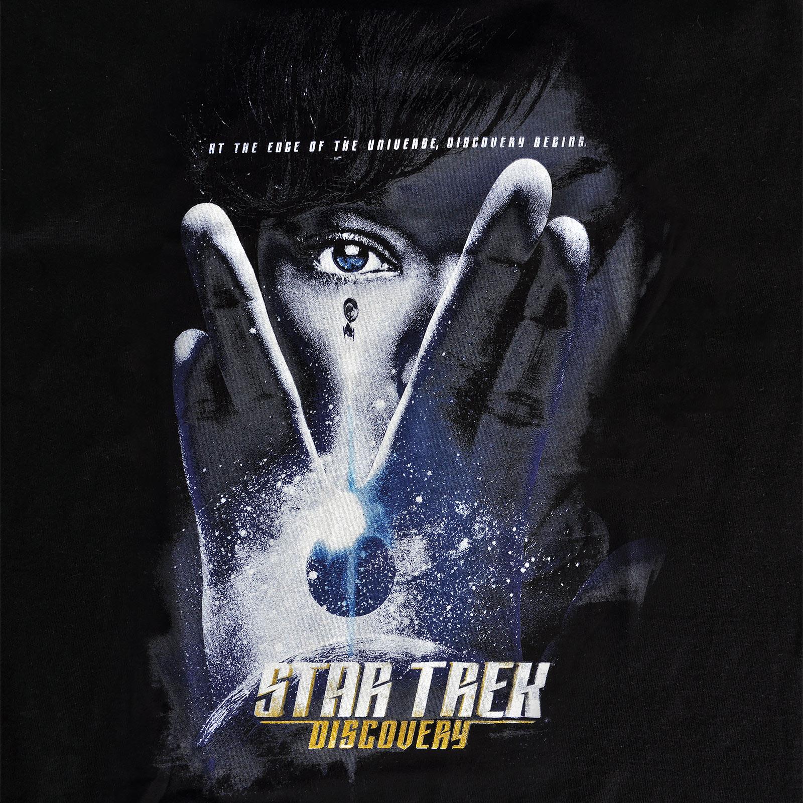 Star Trek - Discovery Poster T-Shirt schwarz