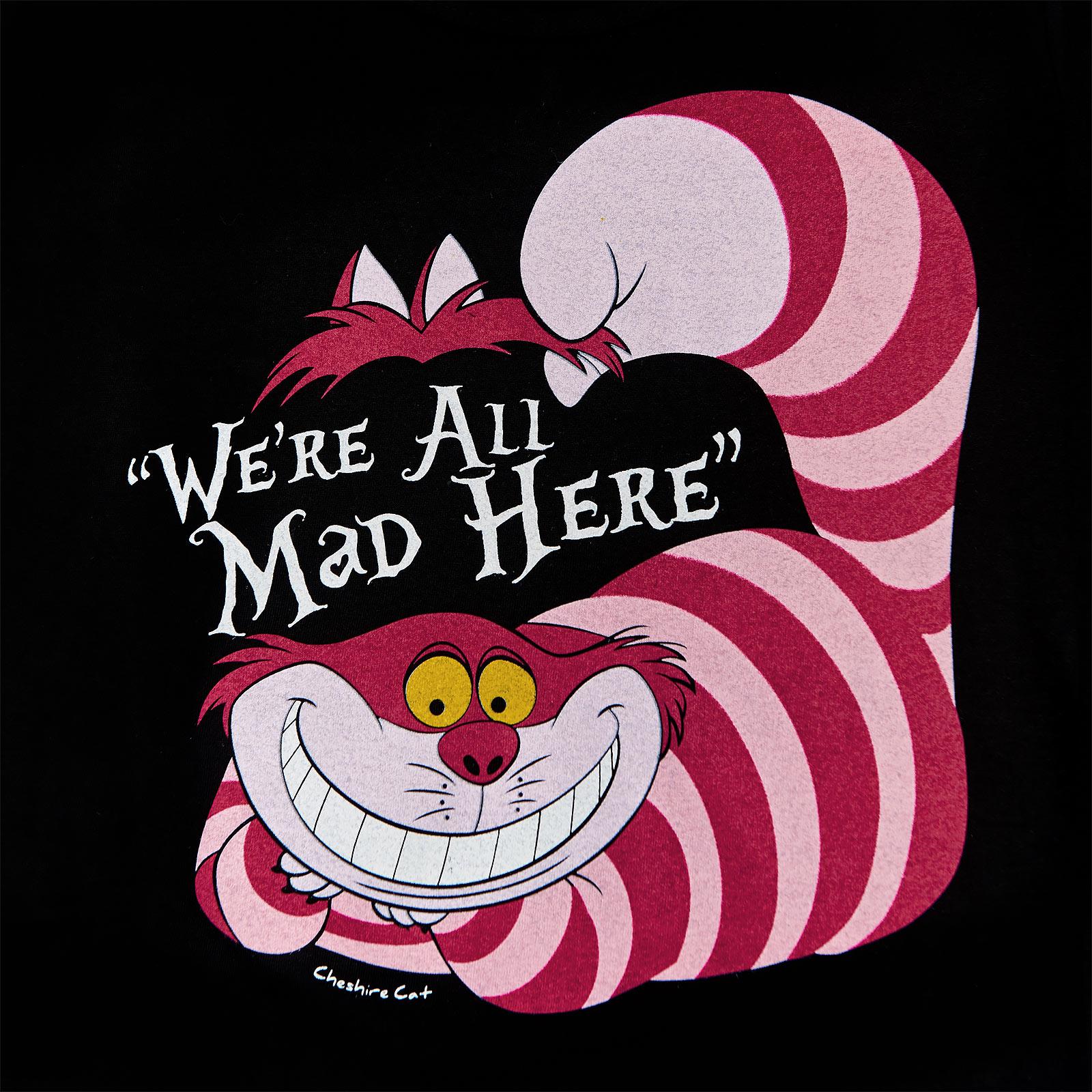 Alice im Wunderland - Grinsekatze T-Shirt Damen schwarz