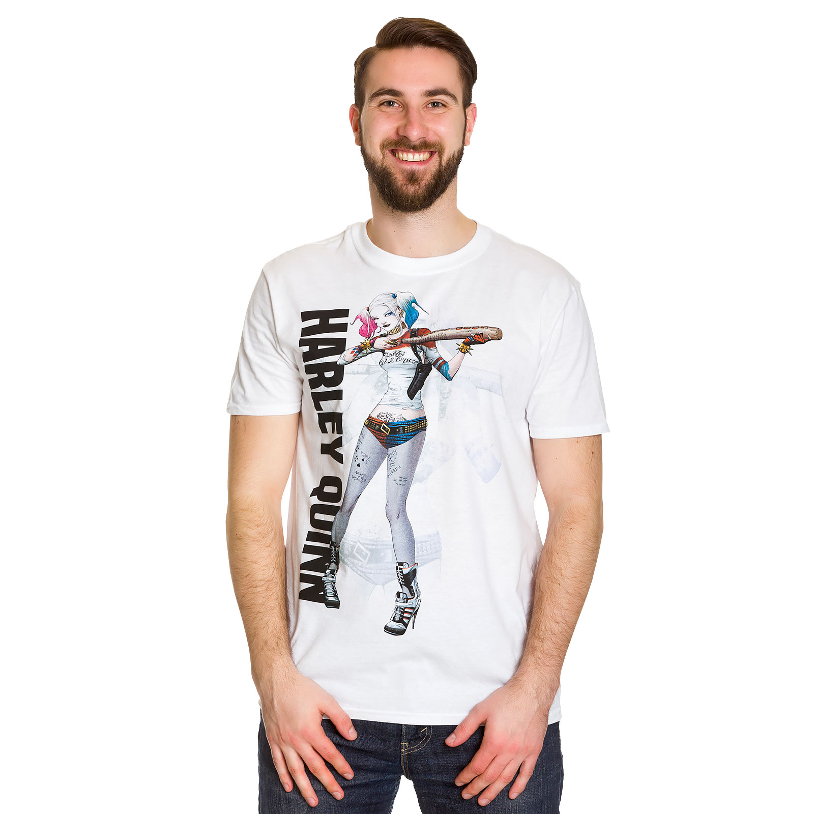 Suicide Squad - Harley Quinn Poster T-Shirt weiß