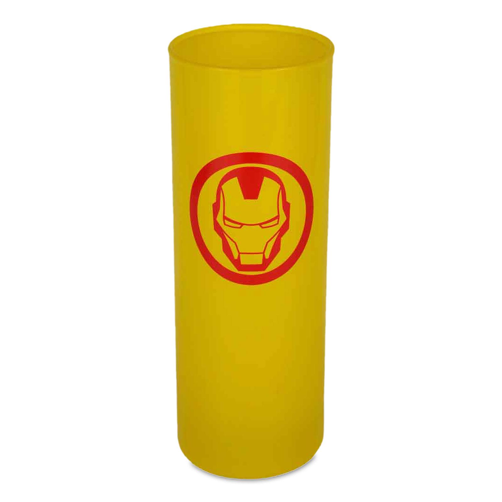 Iron Man - Logo Glas gelb