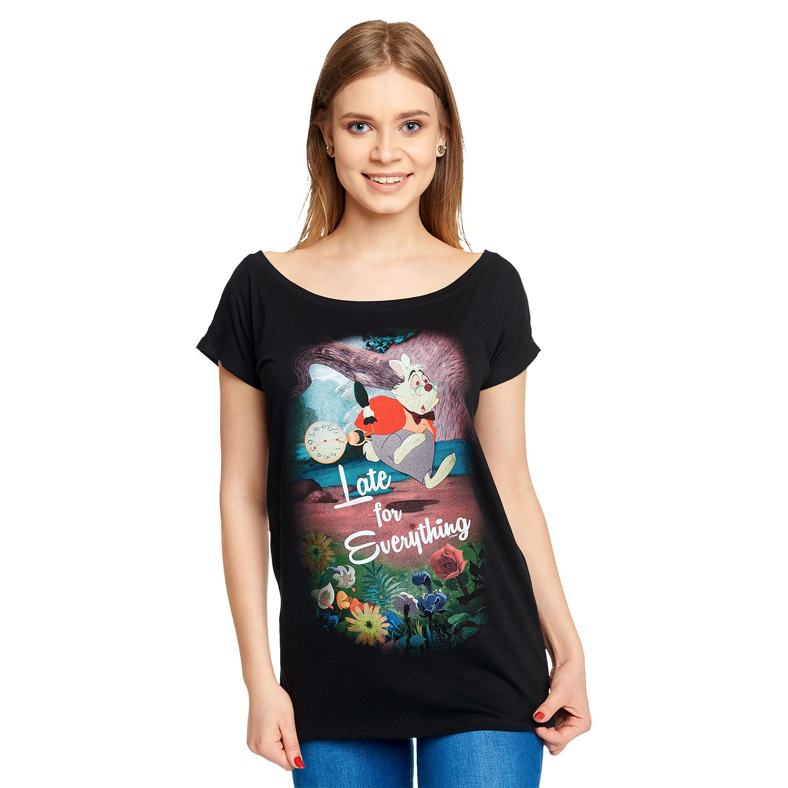 Alice im Wunderland - Late T-Shirt Damen Loose Fit schwarz