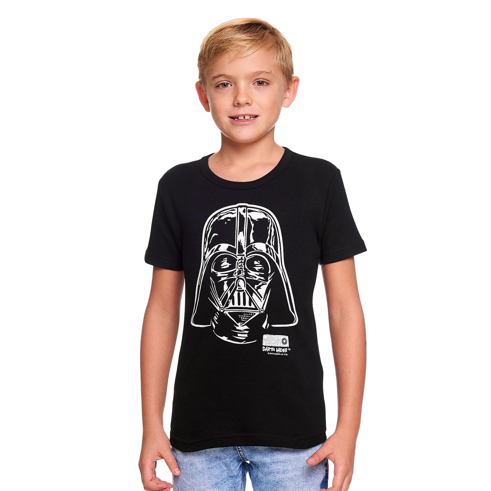 Star Wars - Darth Vader Portrait Kinder Shirt