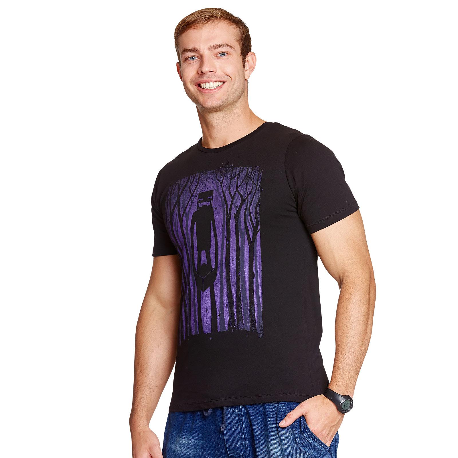 Minecraft - Enderman Shadow T-Shirt schwarz