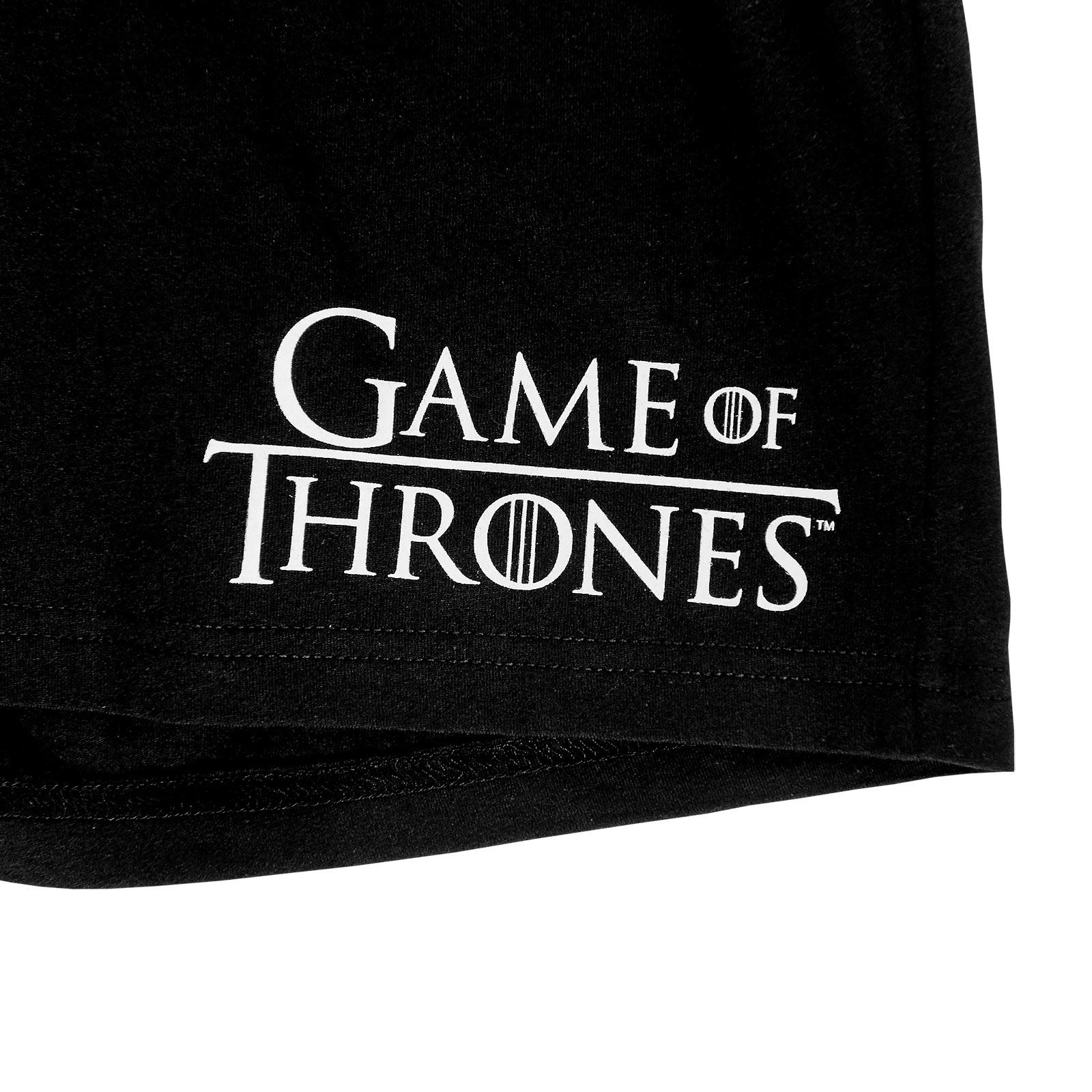 Game of Thrones - Stark Wappen Pyjama kurz Damen