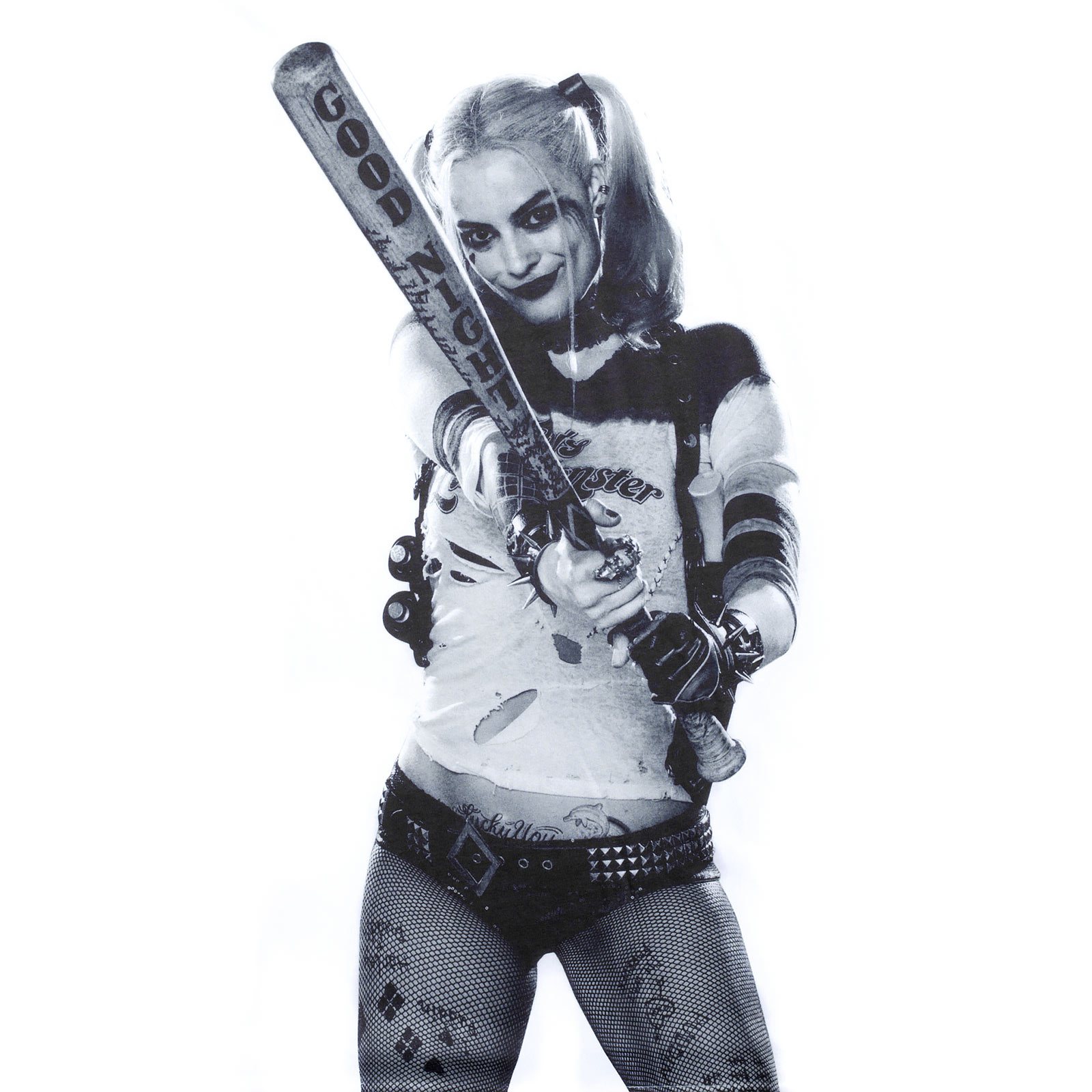 Suicide Squad - Harley Quinn Full Size T-Shirt weiß