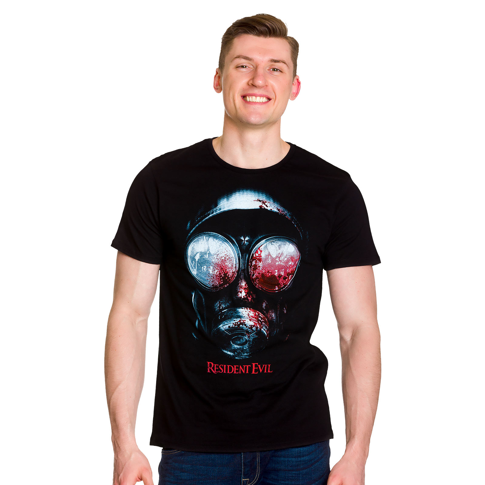 Resident Evil - Bloody Mask T-Shirt schwarz