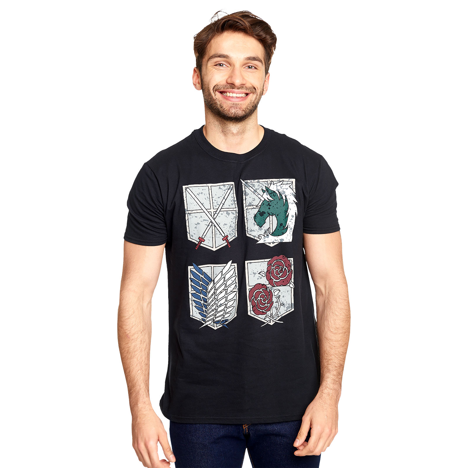 Attack on Titan - Military Divisions Shields T-Shirt