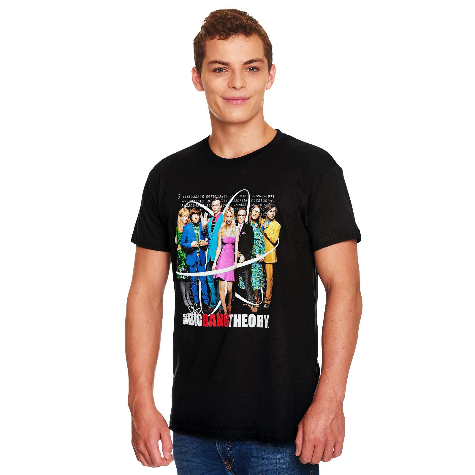 Big Bang Theory - Collage T-Shirt schwarz