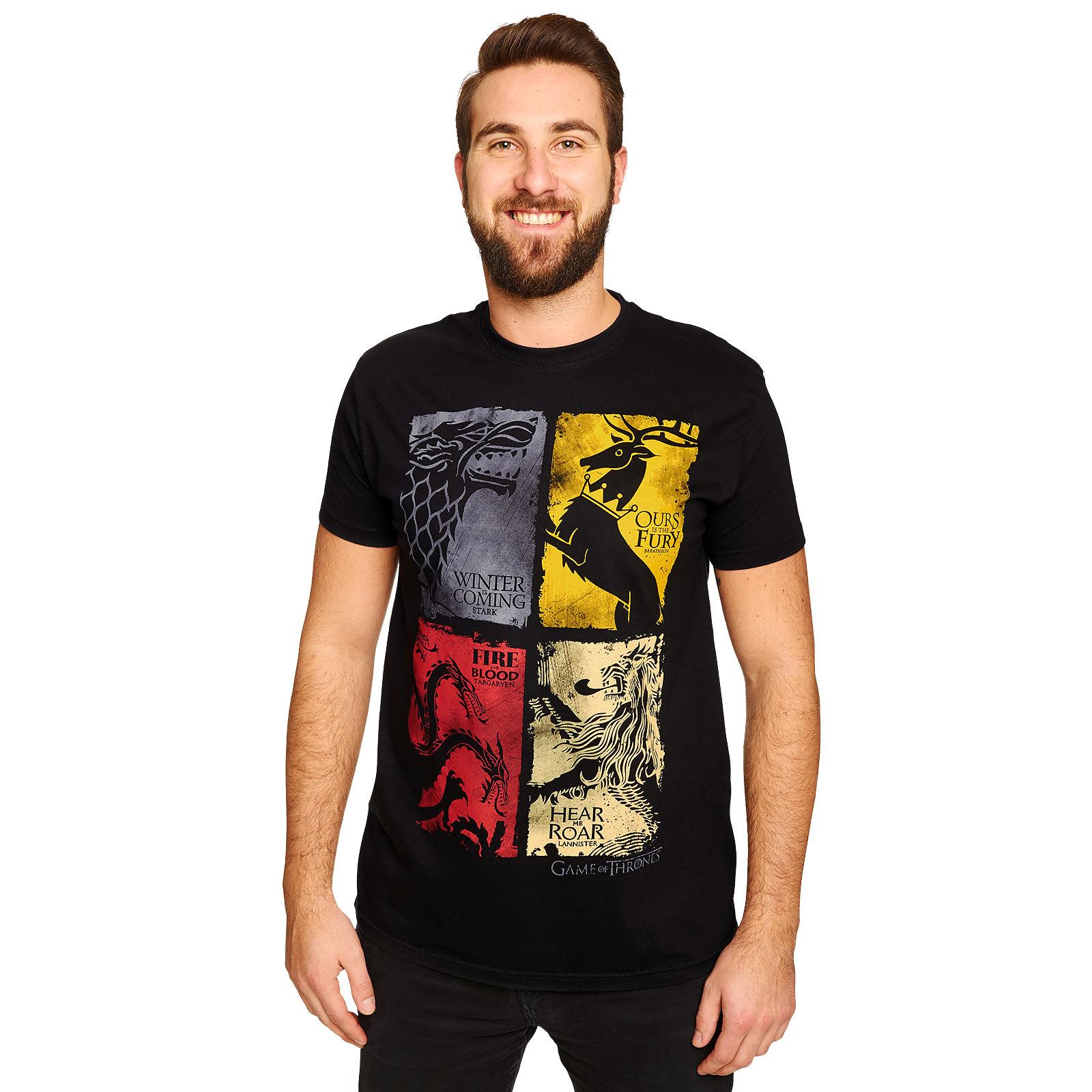 Game of Thrones - Wappen distressed T-Shirt schwarz