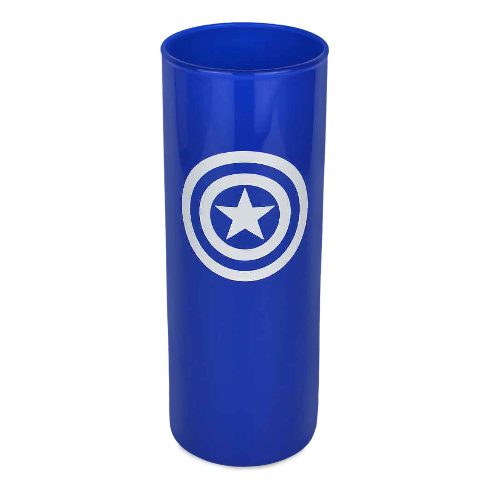 Captain America - Shield Logo Glas blau