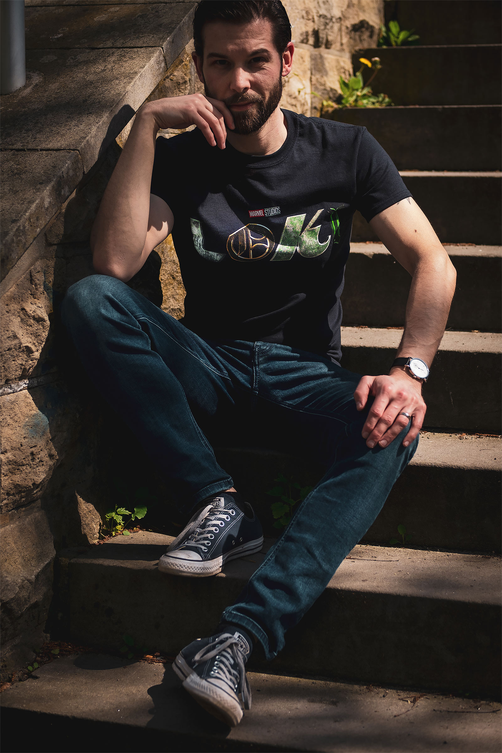 Loki - Logo T-Shirt schwarz