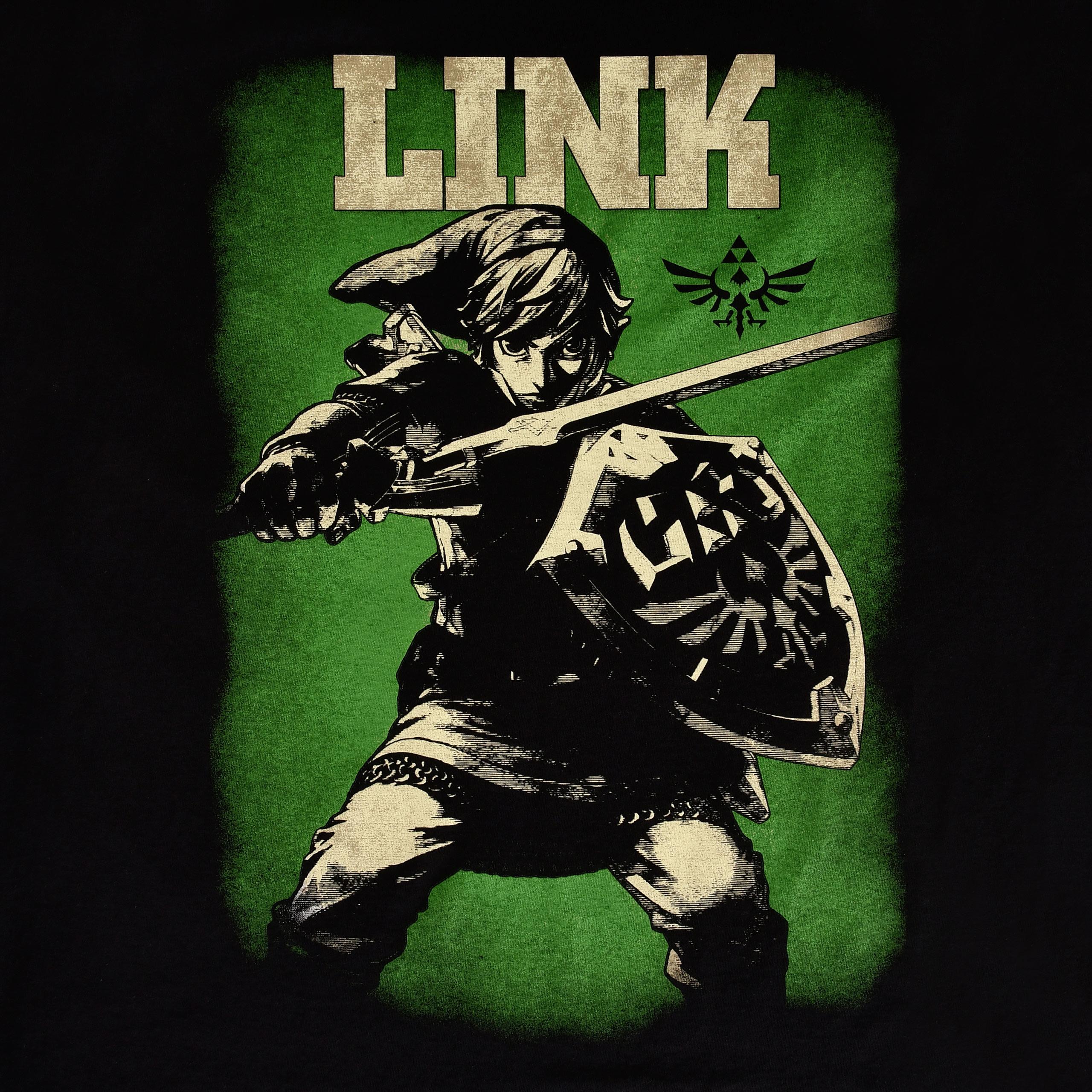 Zelda - Link Hero of Hyrule T-Shirt schwarz