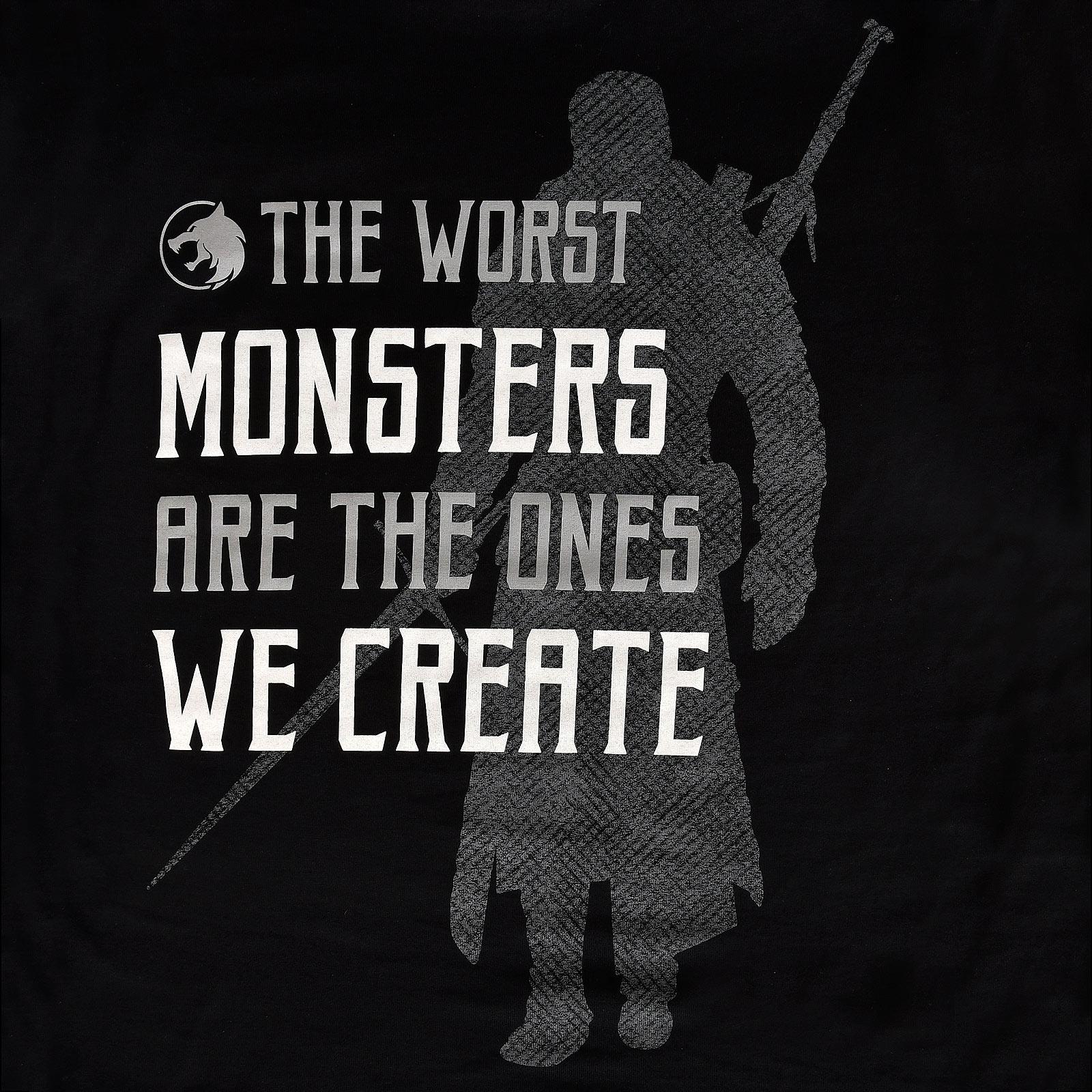 Monsters We Create T-Shirt für Witcher Fans schwarz