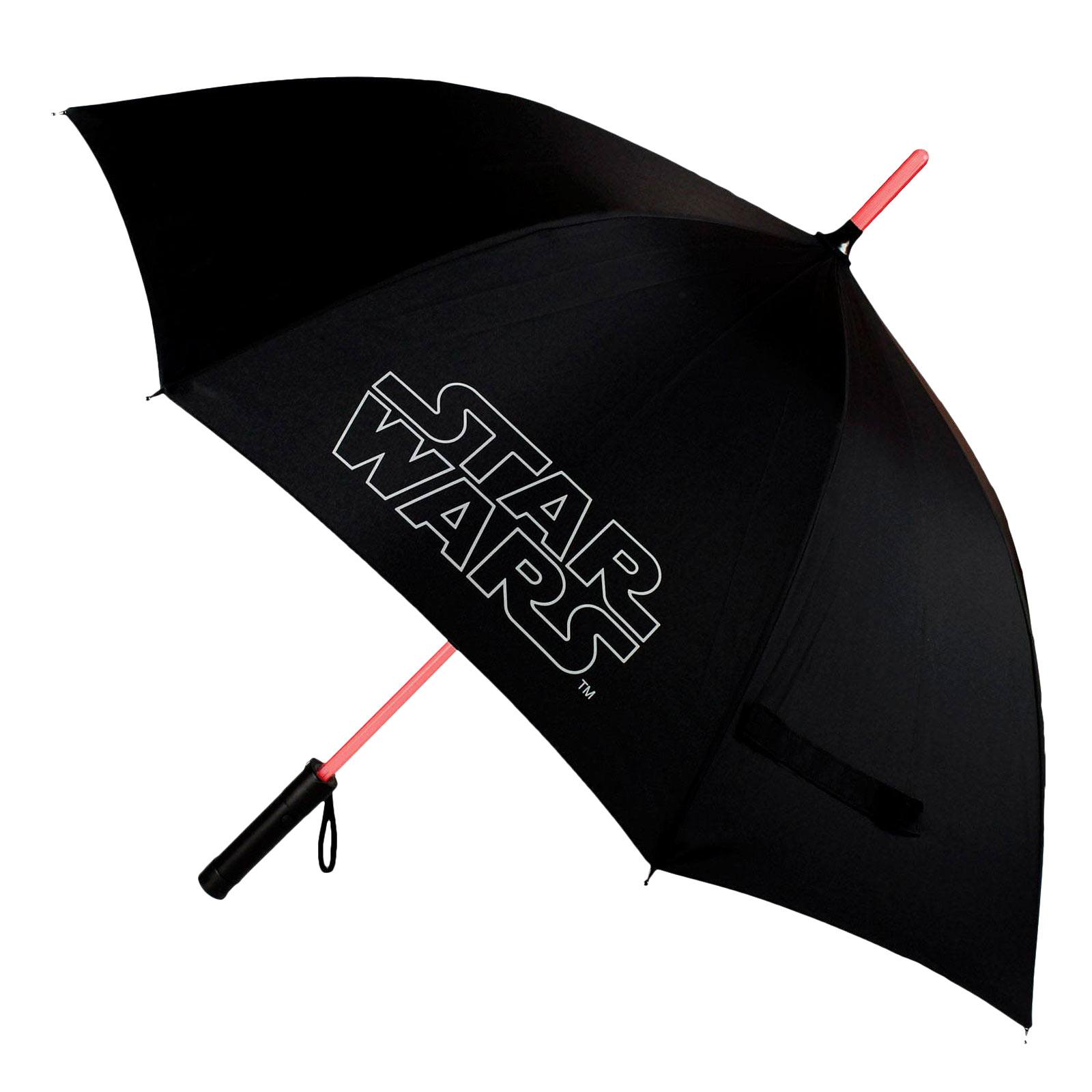 Star Wars - Lichtschwert Schirm mit LED Leuchtfunktion