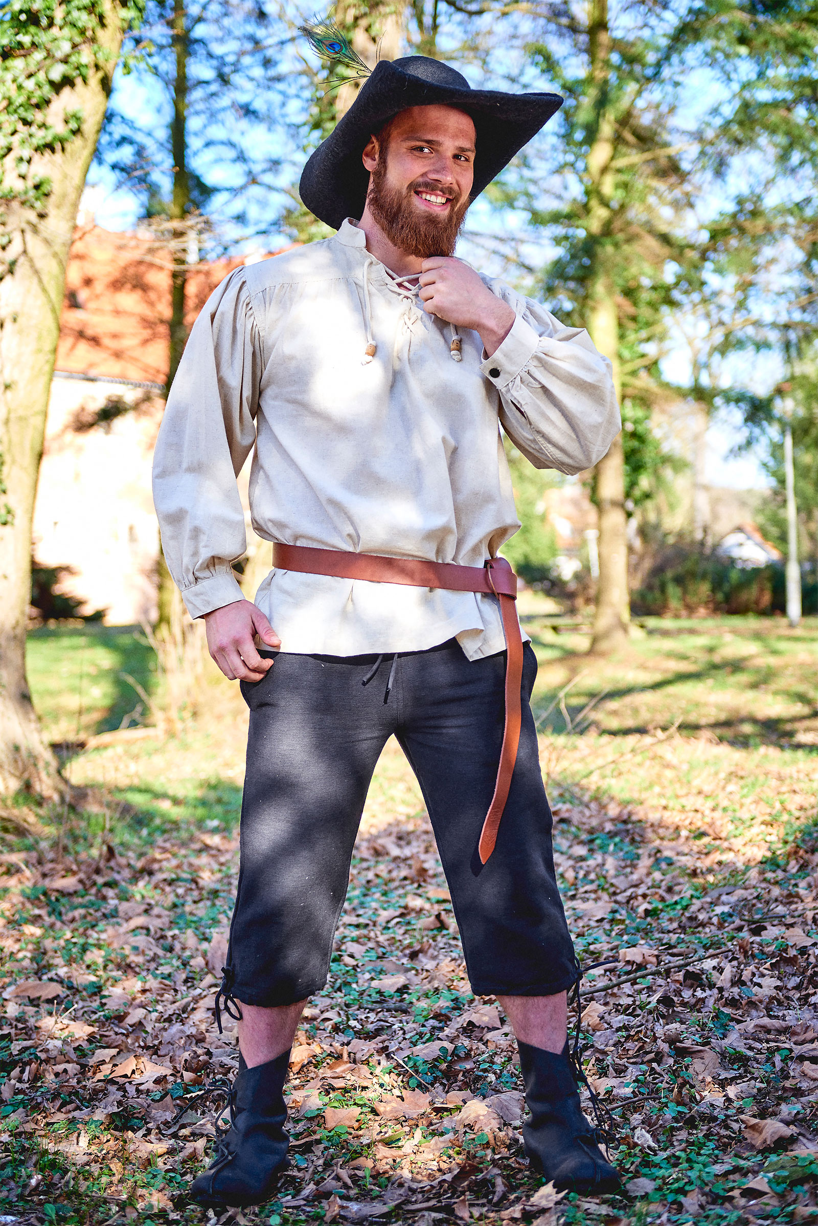 Mittelalter Kniebundhose Veli schwarz
