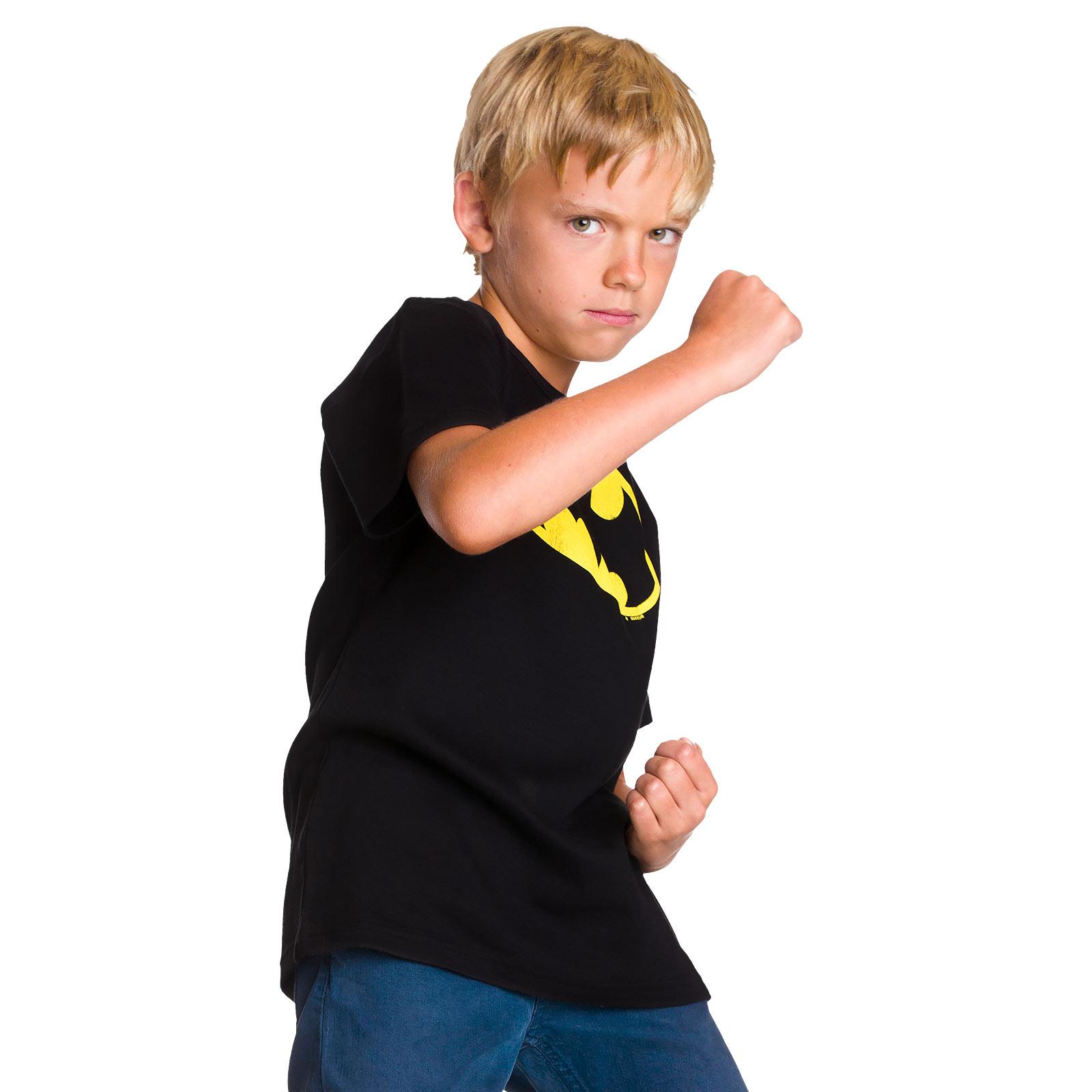 Batman - Logo T-Shirt für Kinder schwarz