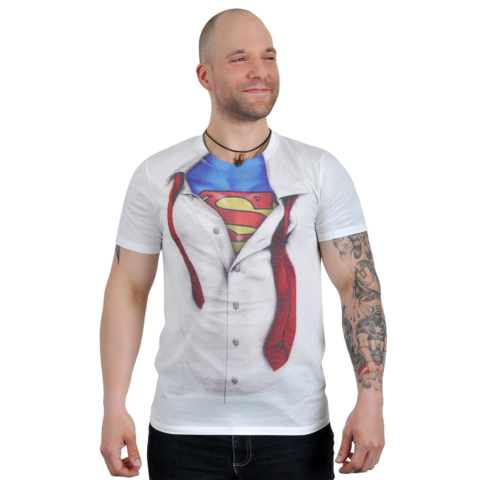 Superman - Clark Kent T-Shirt weiß