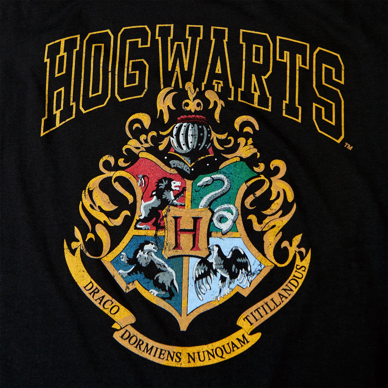 Harry Potter - Hogwarts Wappen Tank Top schwarz