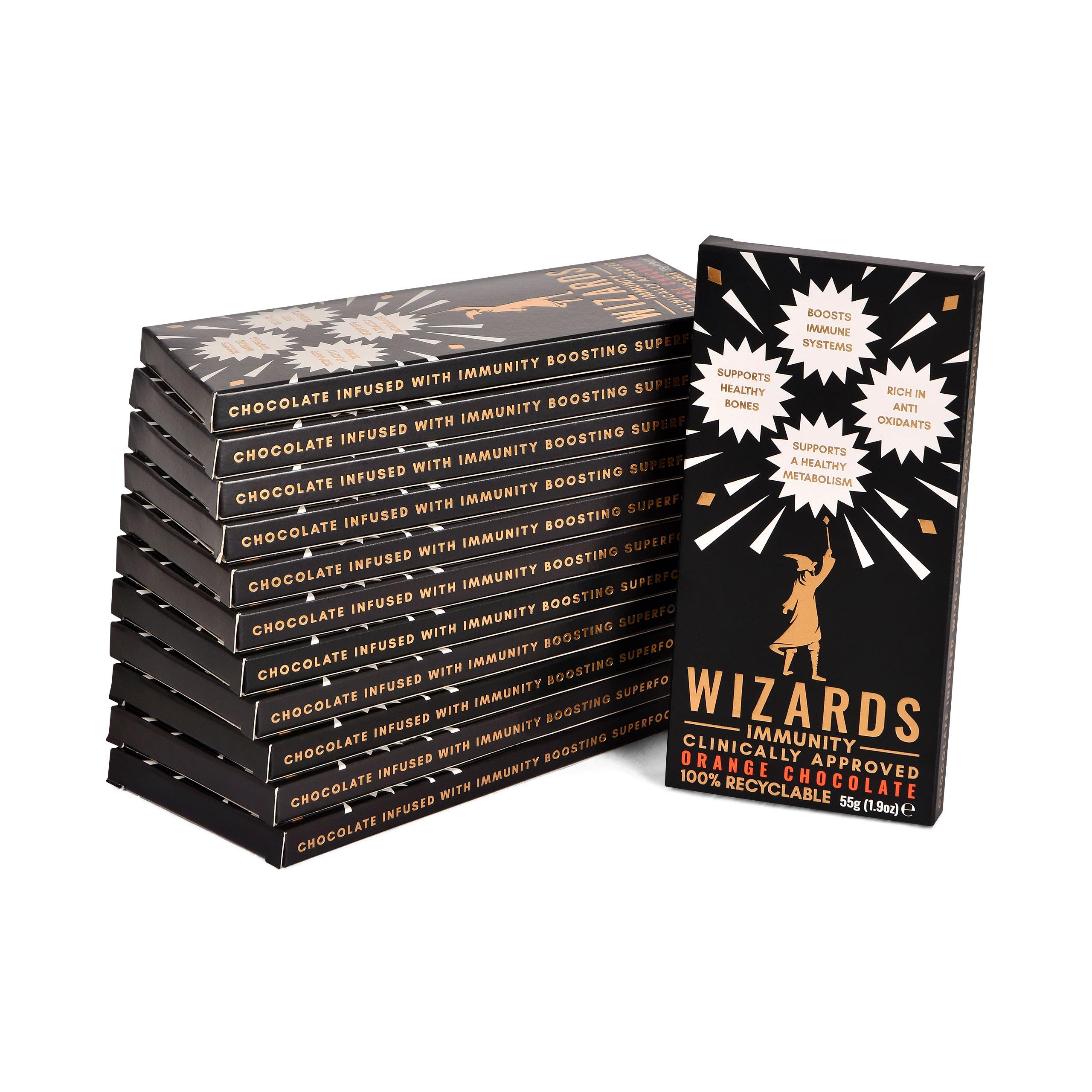 Wizards Magic - Immunity Orangen Schokolade 12 Tafeln