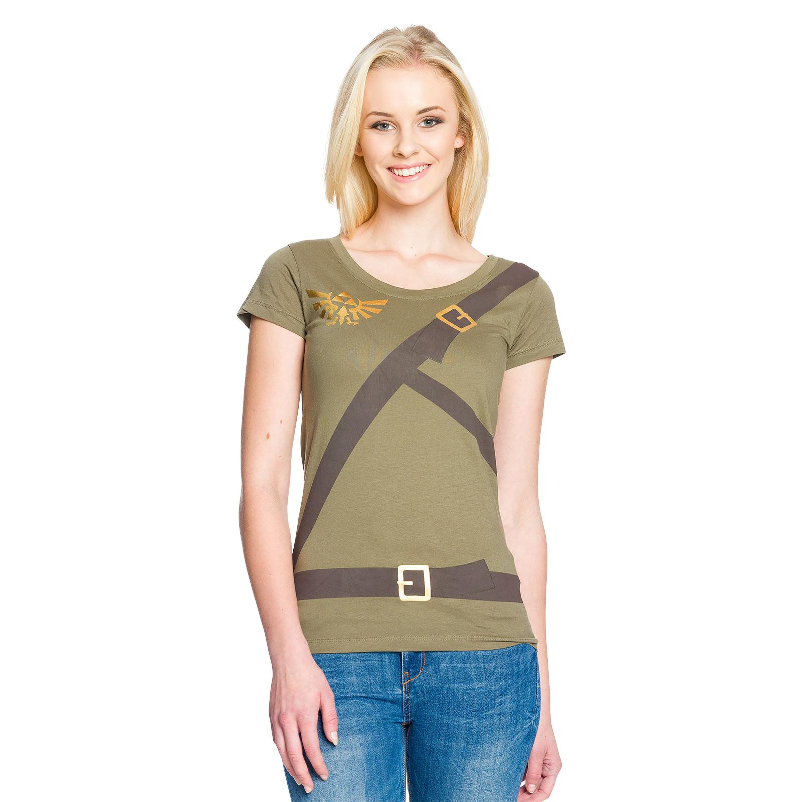 Zelda - Link Cosplay Girlie Shirt oliv