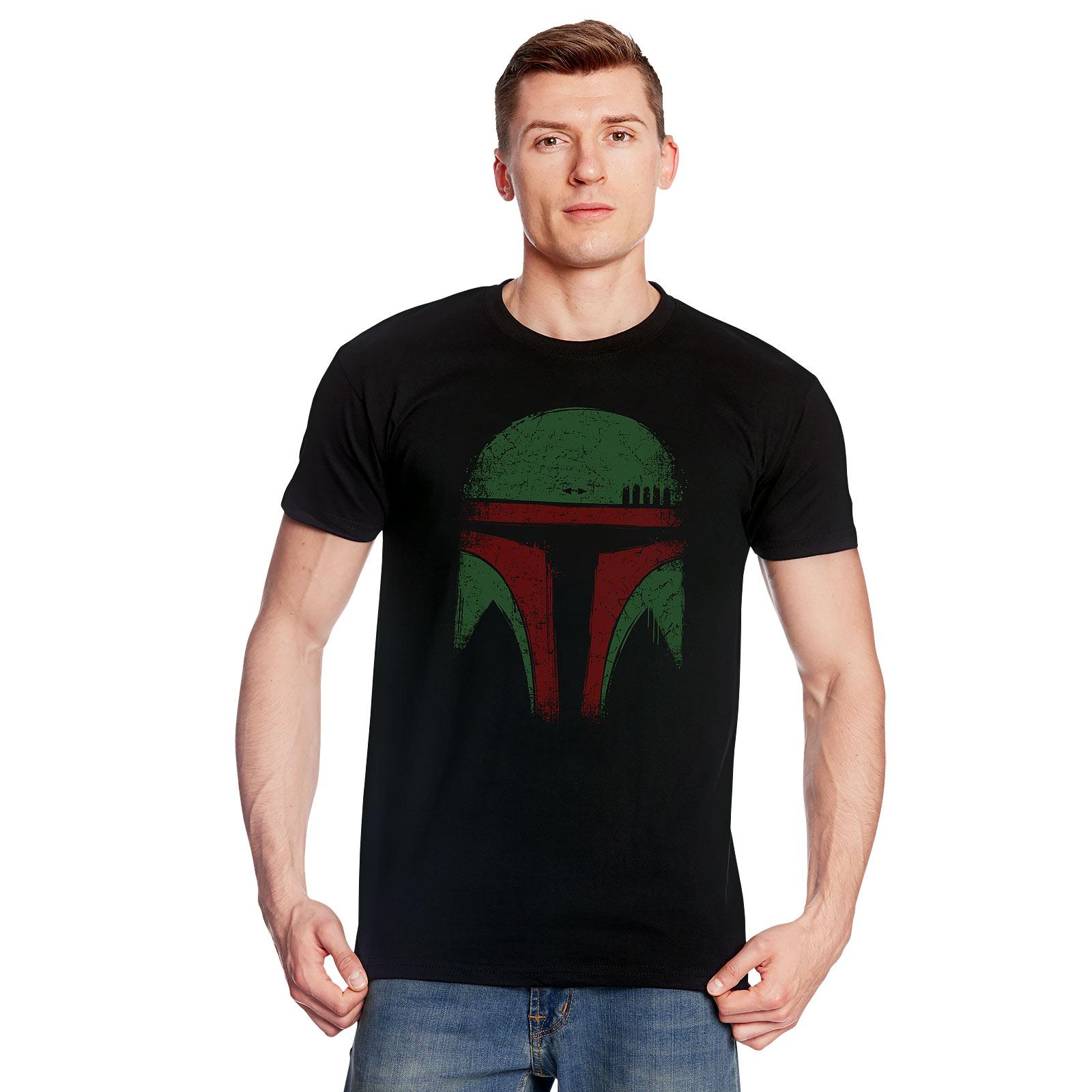 Boba Face T-Shirt für Star Wars Fans schwarz