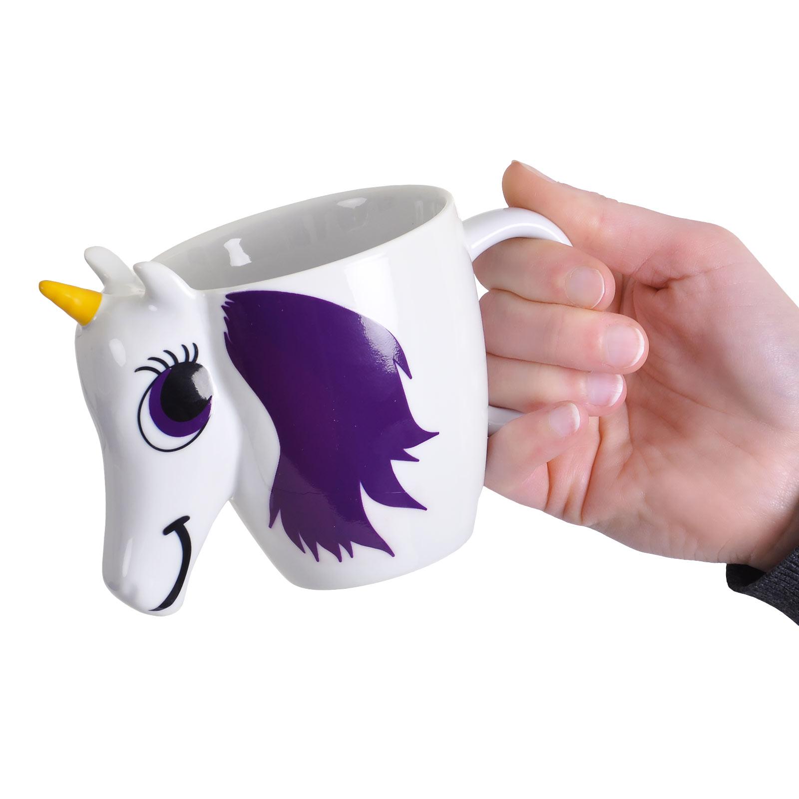 Einhorn 3D Thermoeffekt Tasse