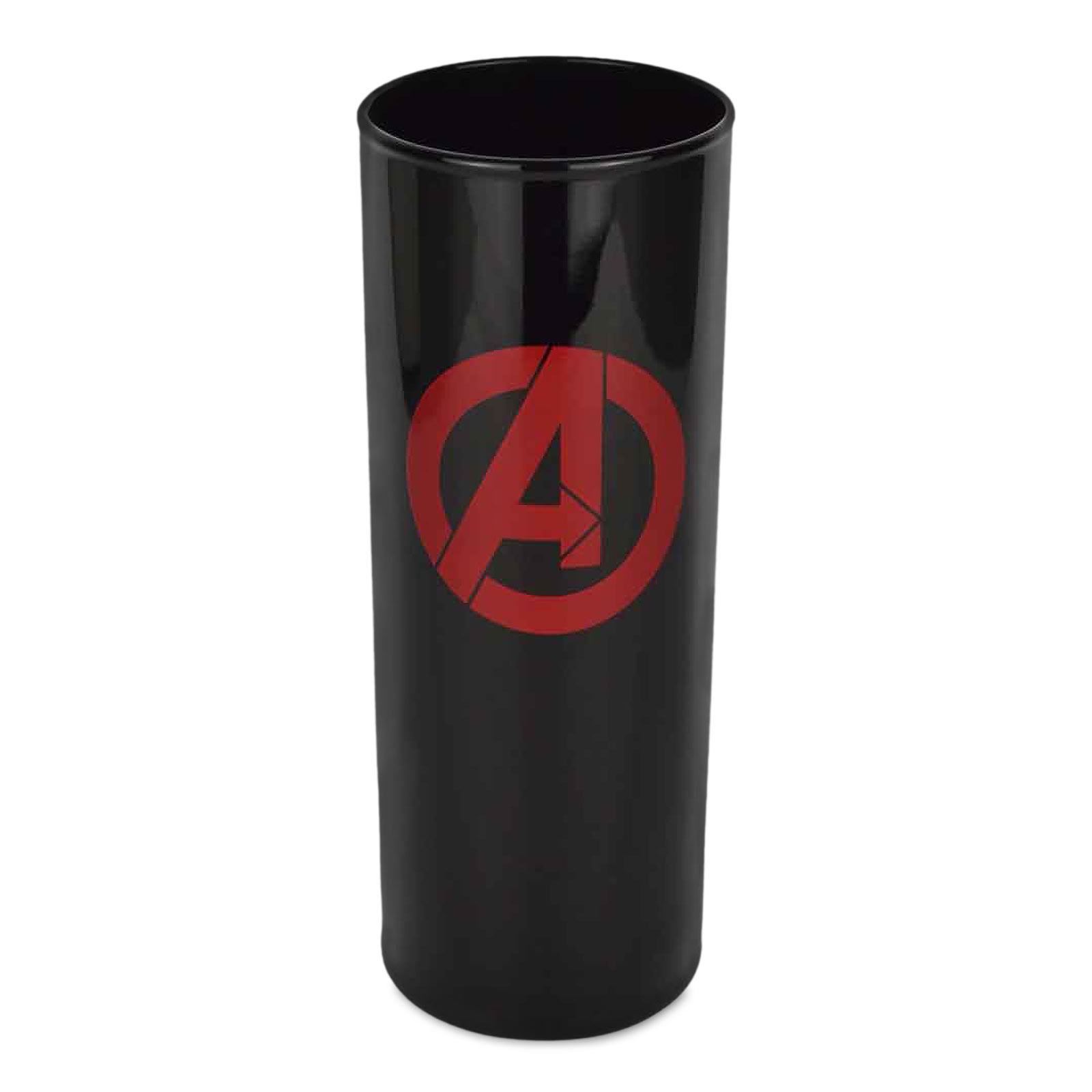 Avengers Logo Glas schwarz