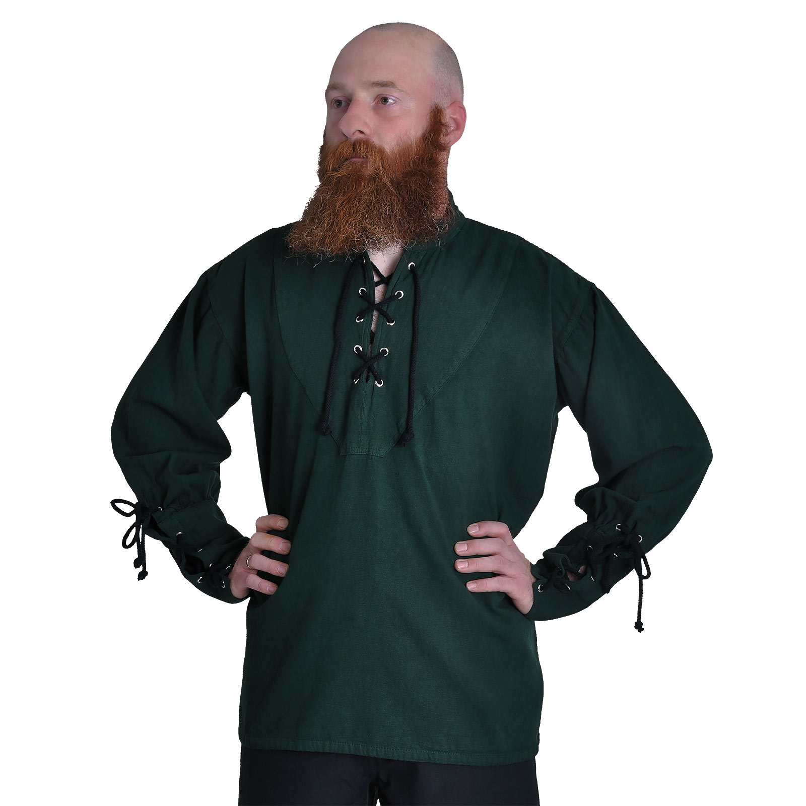 Mittelalter Hemd dunkelgrün