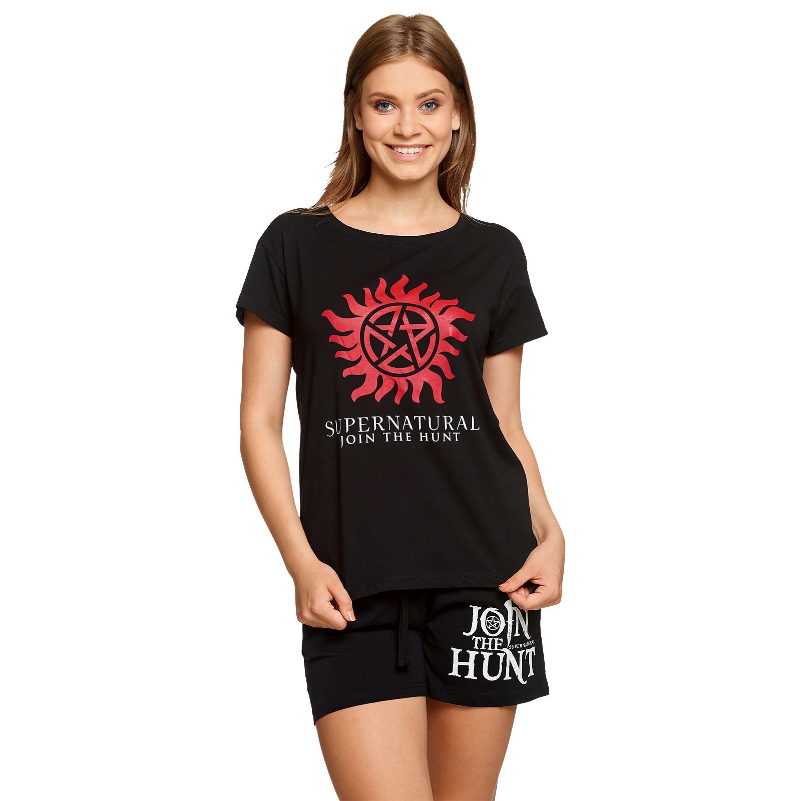 Supernatural - Anti Possession Symbol Pyjama kurz Damen